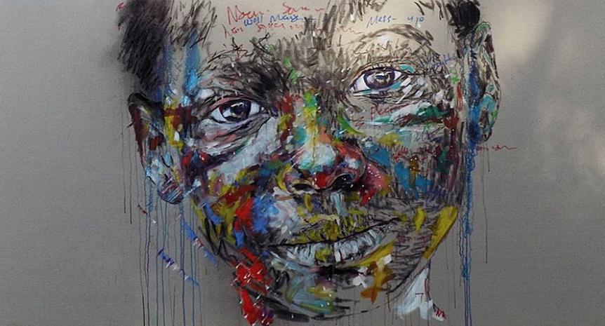 La obra de Makamo habla, mediante los niños, de la belleza de ser un ser humano. (@NelsonMakamo)