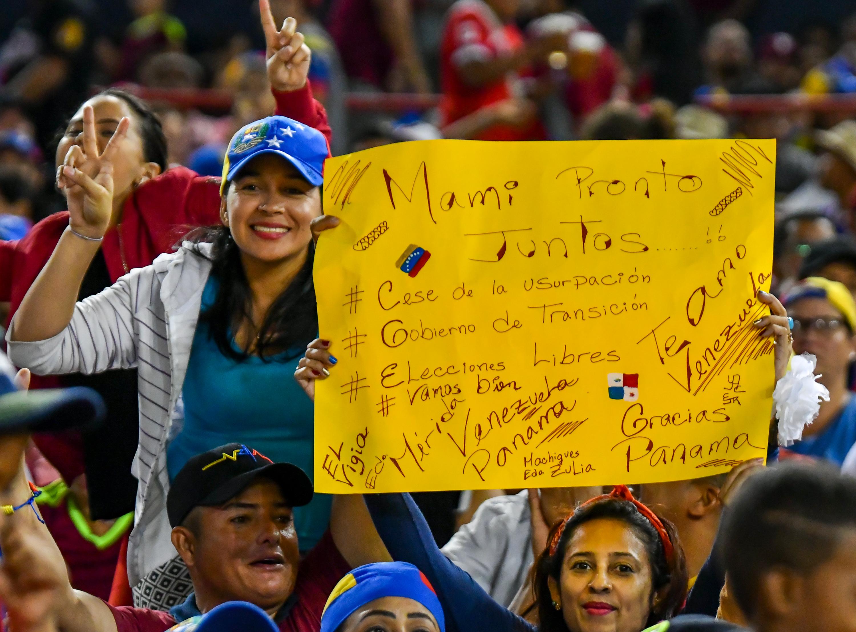 """""""Cese de usurpación"""" y """"elecciones libres"""", entre los reclamos (Luis ACOSTA / AFP)"""