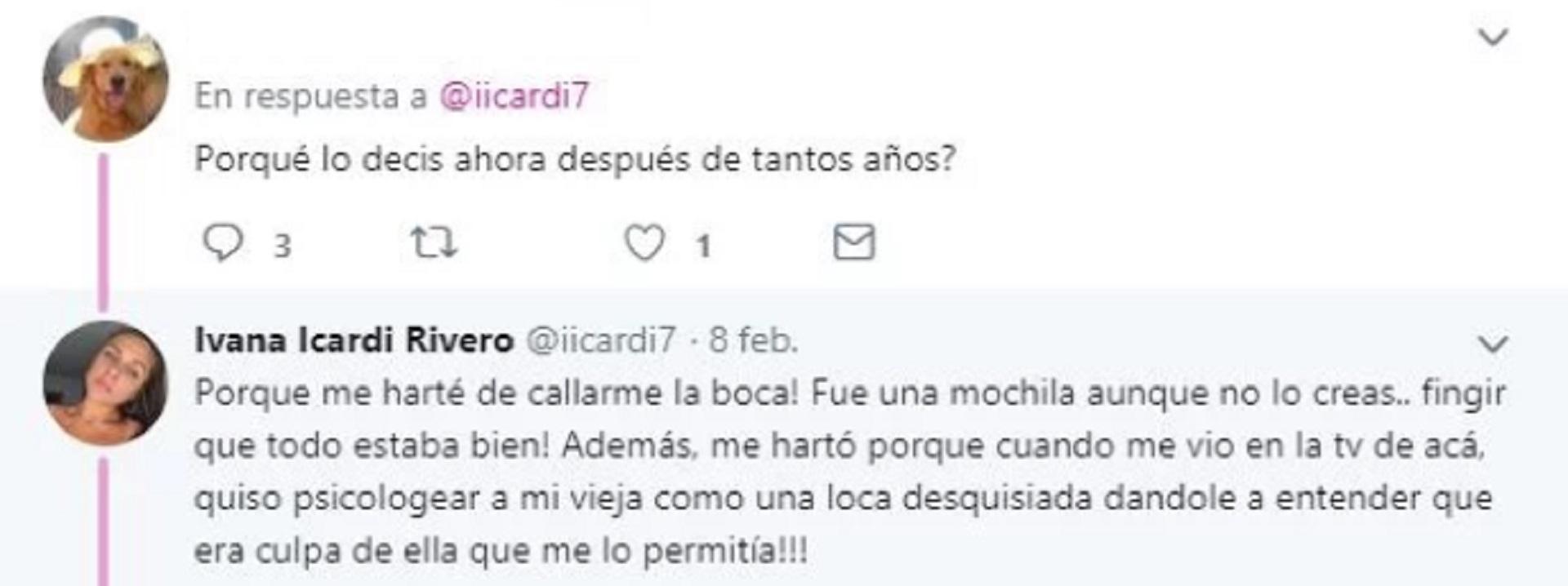 La respuesta de Ivana Icardi a una de sus seguidoras