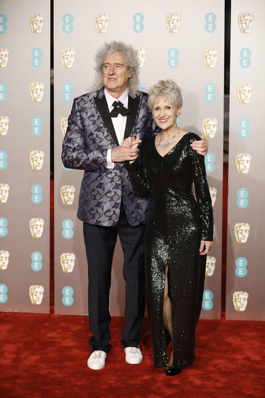 Brian May y su esposa Anita Dobson