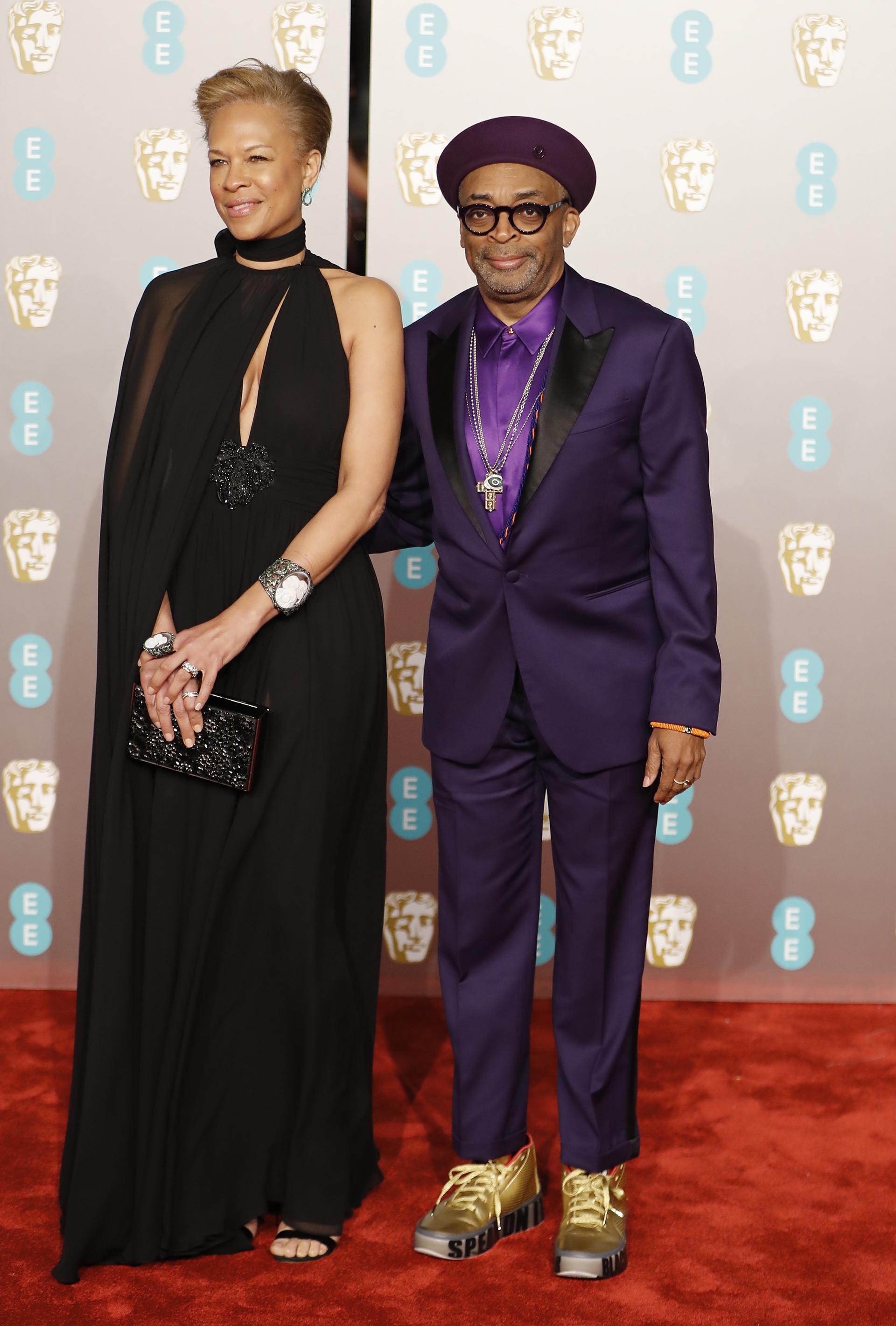 Spike Leey su esposa Tonya Lewis Lee