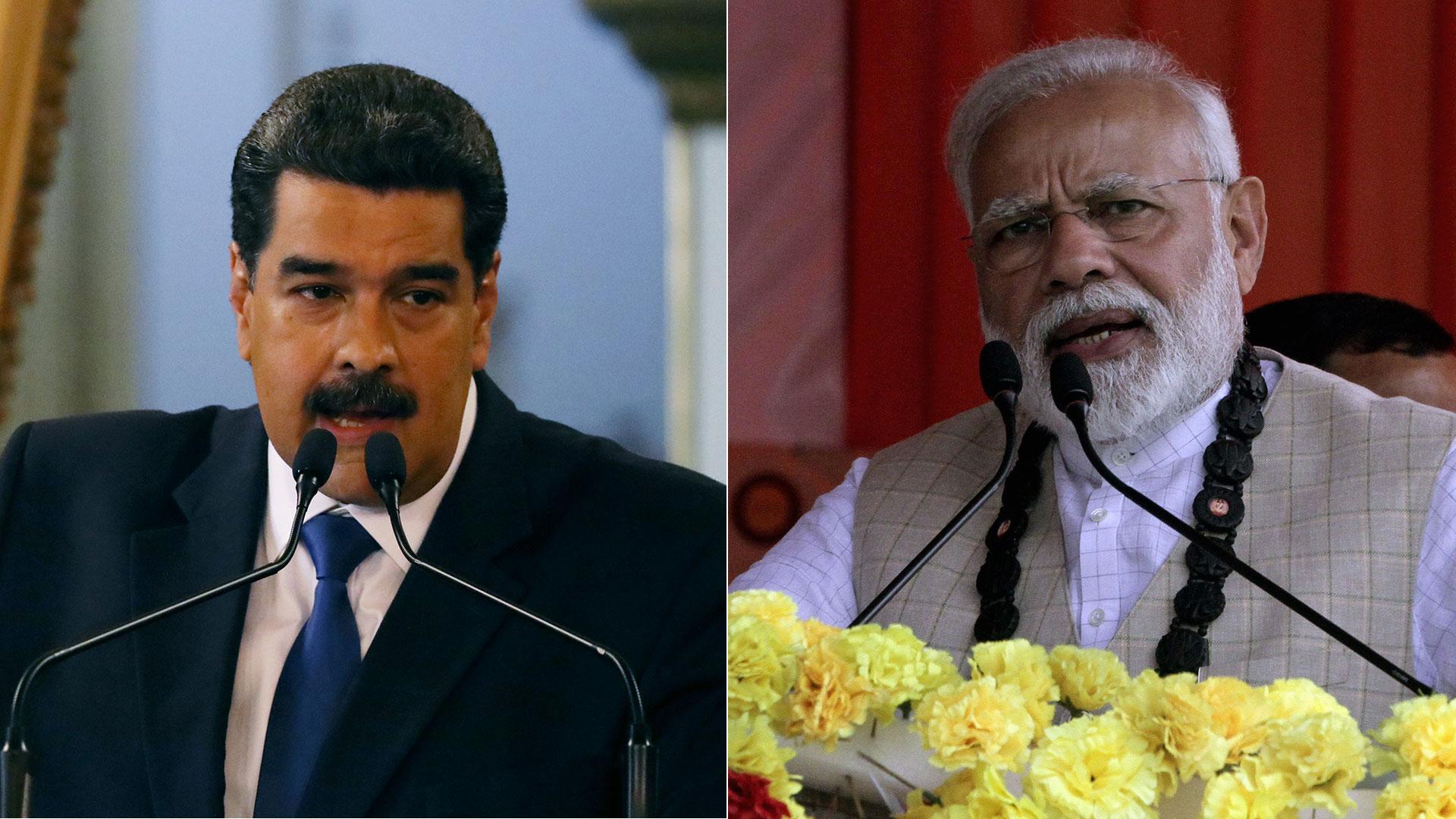 Nicolás Maduro y Narendra Modi