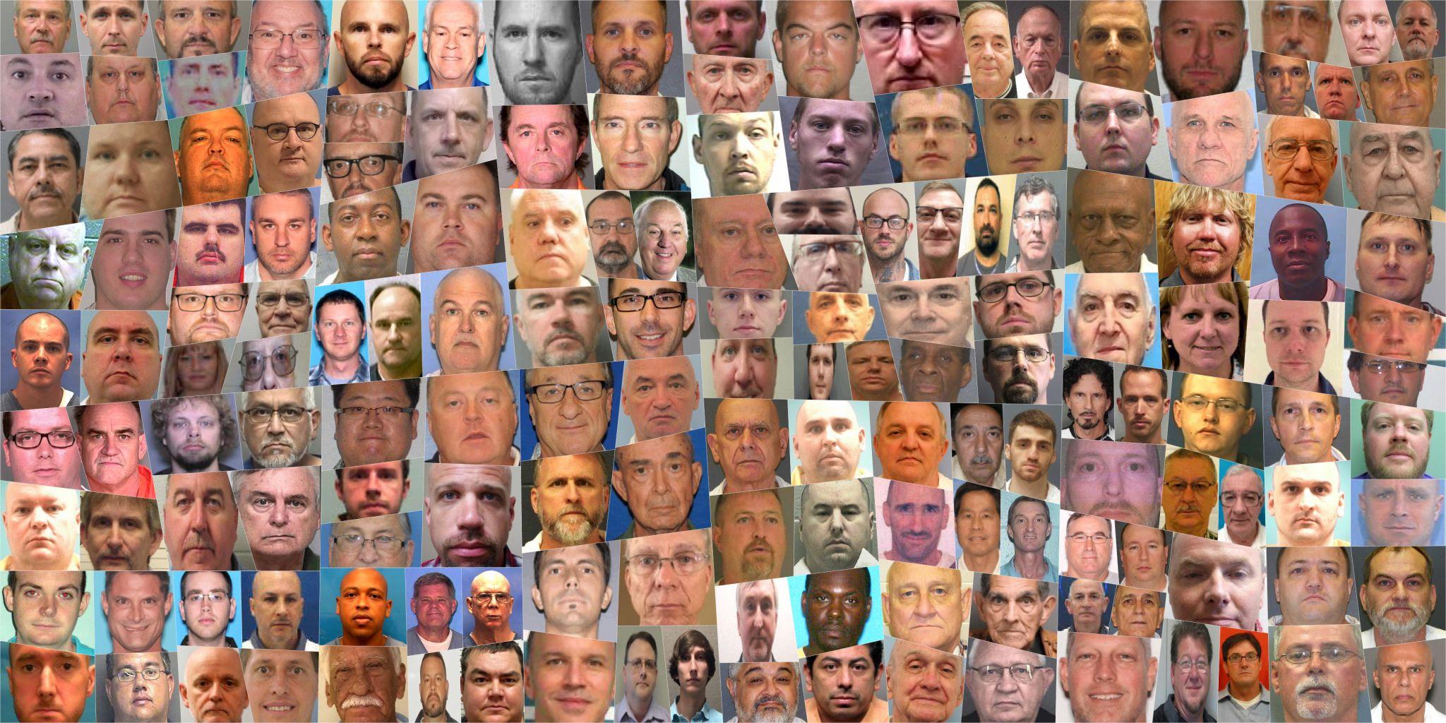 Las imágenes de algunos de los abuadores, presentadas por el Houston Chronicle