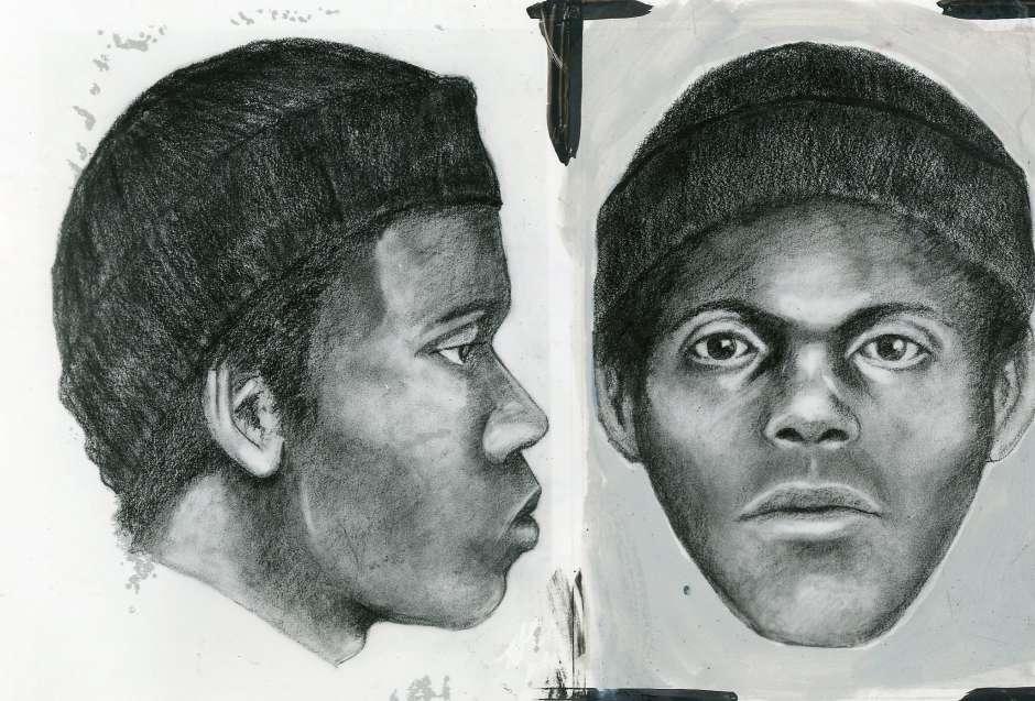El dibujo hecho por los forenses de la Policía de San Francisco en 1975 para tratar de dar con el paradero de The Doodler, el dibujante que engañaba a sus víctimas y las apuñalaba