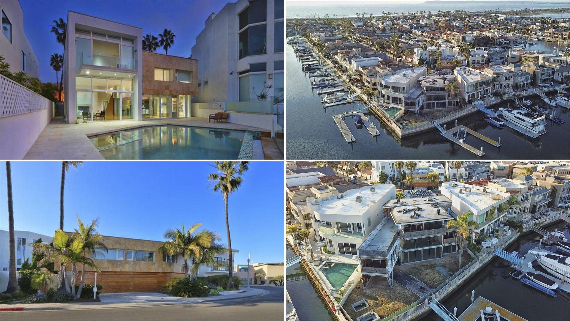 """Las propiedades en venta de """"la maestra"""" Elba Esther Gordillo en San Diego, California. (Fotos: portal redfin.com)"""