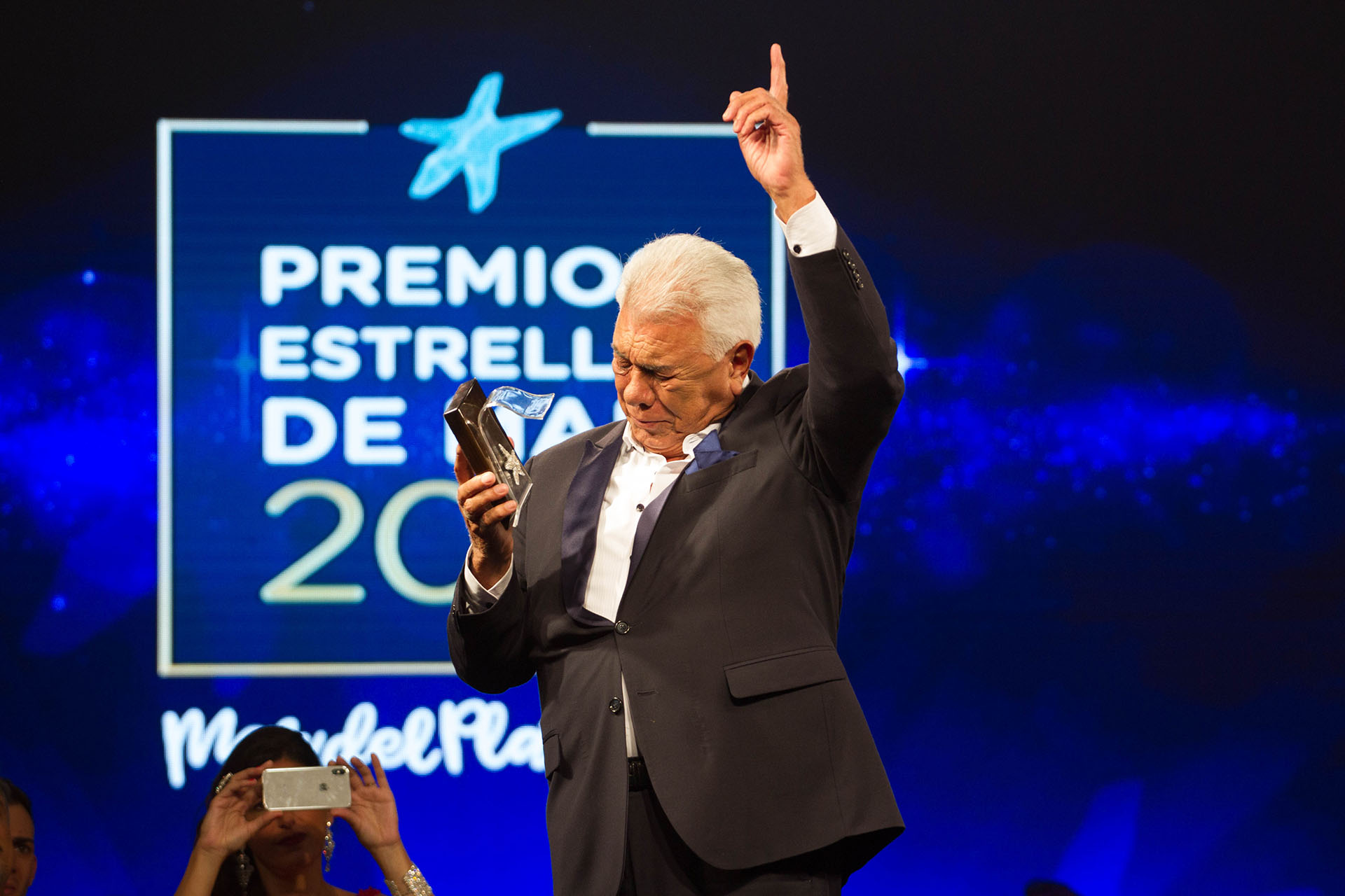 Raúl Lavié fue premiado en Mar del Plata (Cintia Haag)
