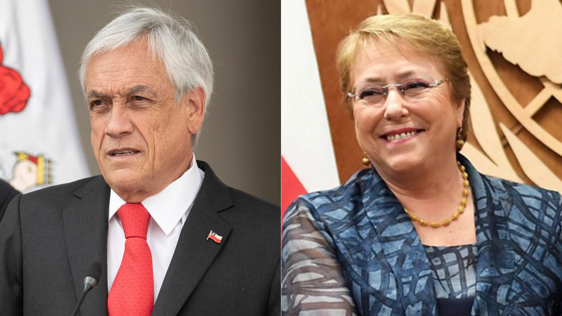 Sebastián Piñera y Michelle Bachelet (Reuters)