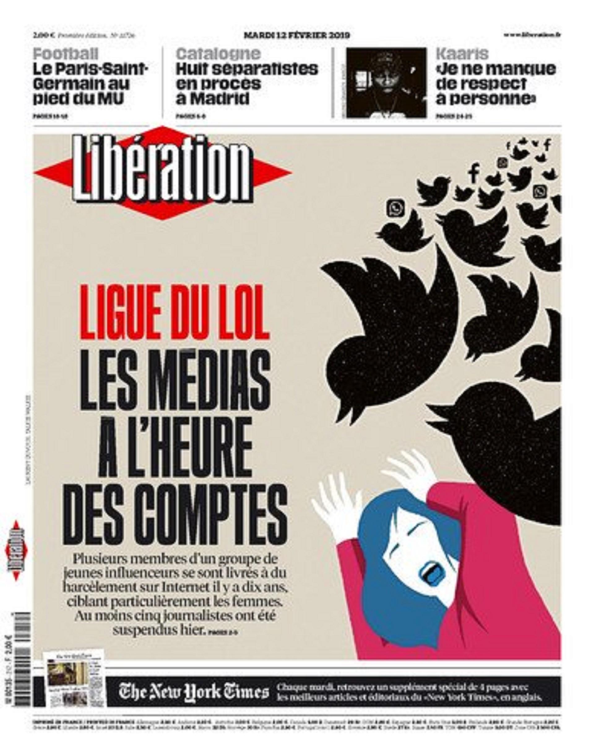 El periódico Libération despidió a dos de sus empleados y puso el tema en portada