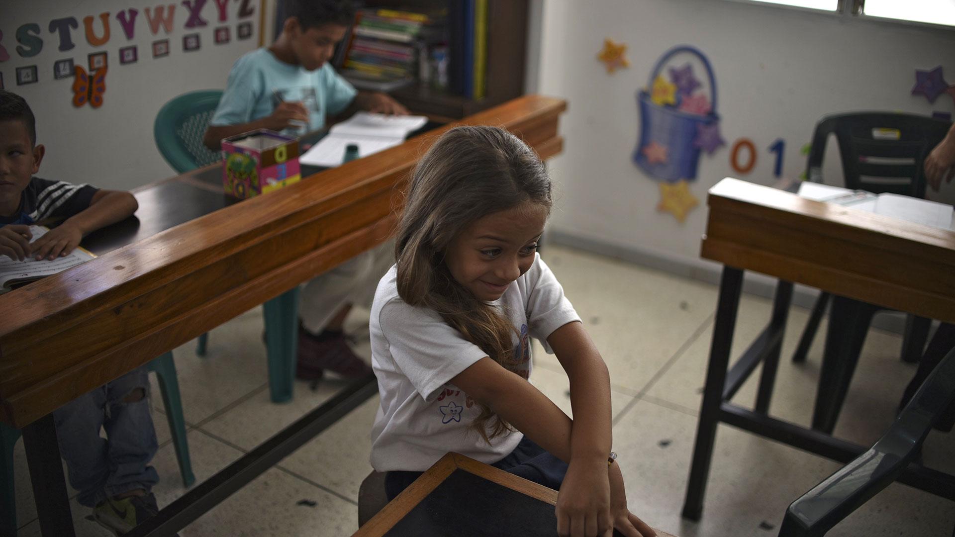 Una niña venezolana (AFP)