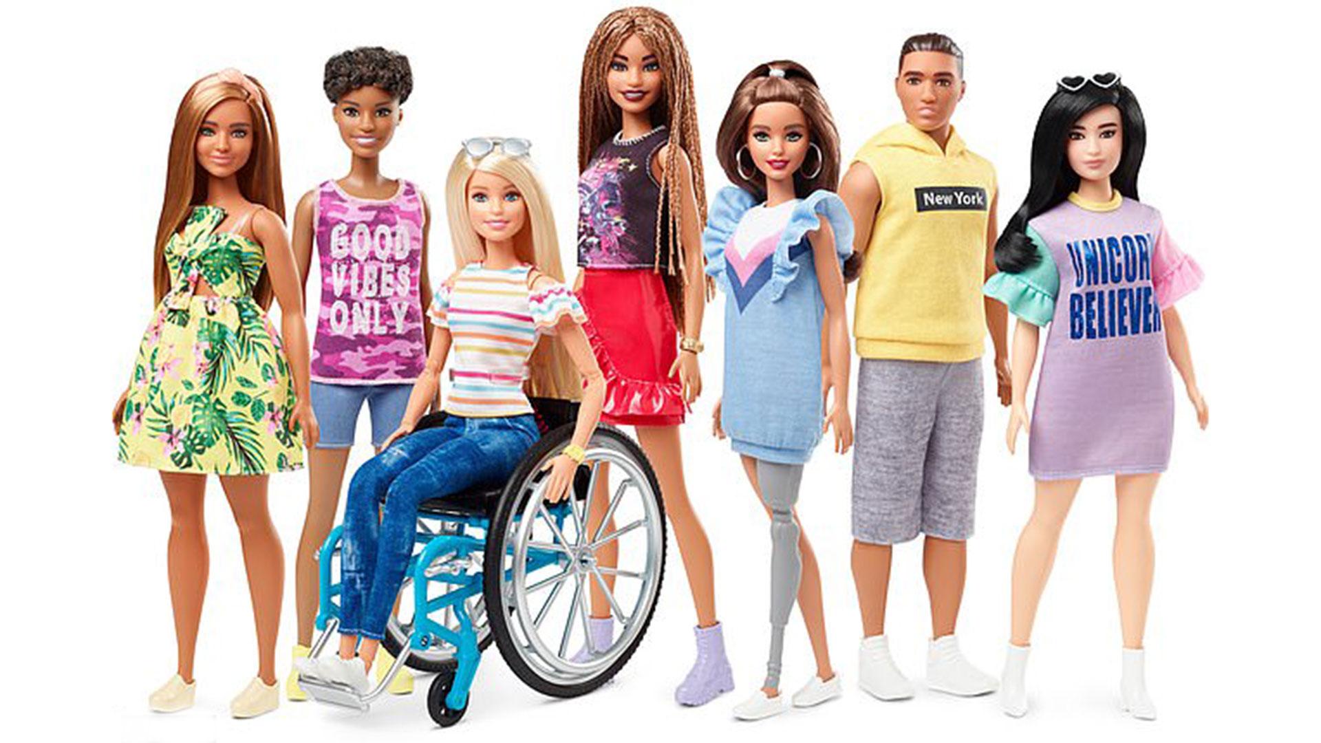 Barbie, en silla de ruedas y en otras versiones que buscan incluir a todos