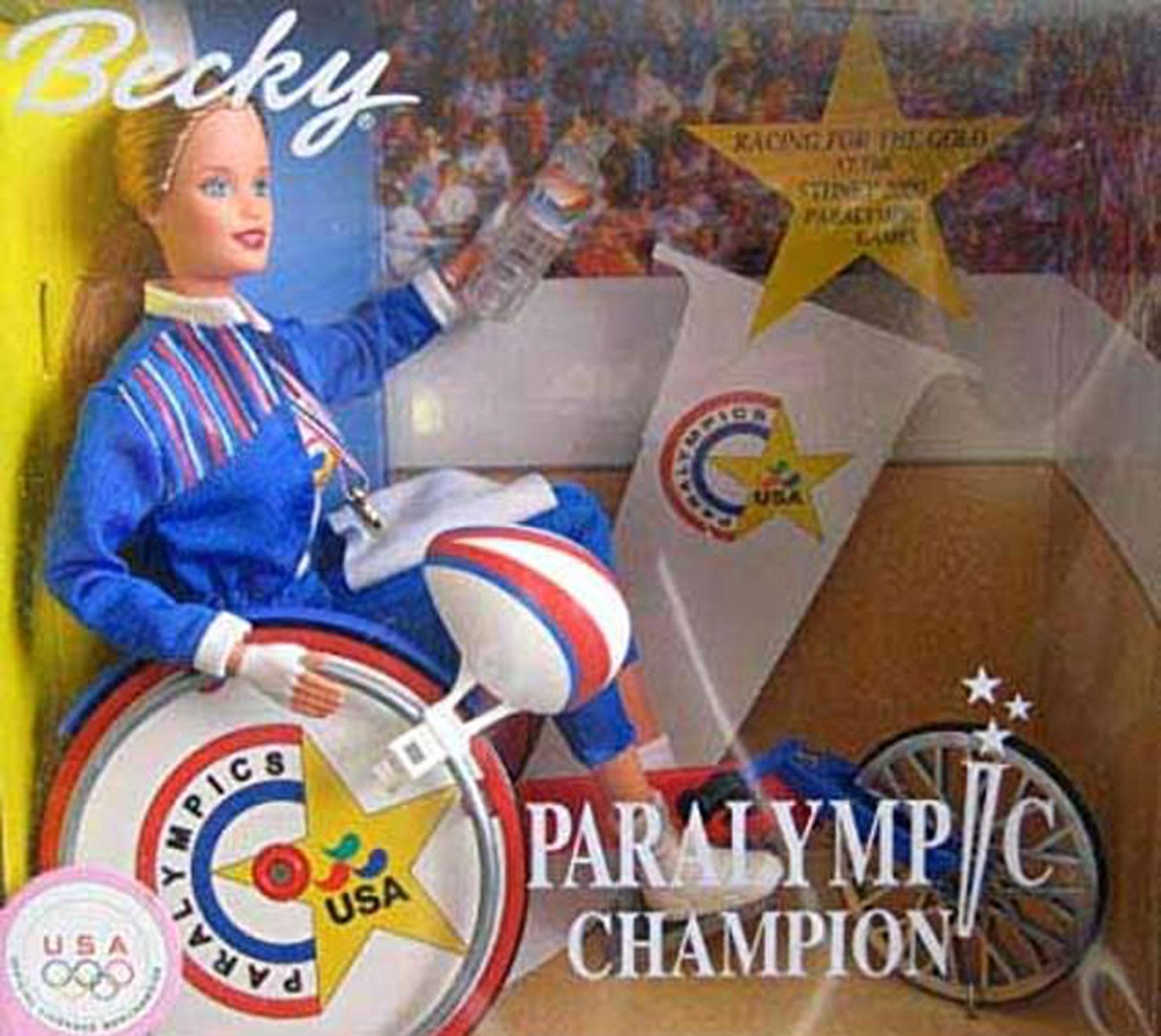 Becky, la campeona paralímpica, una muñeca lanzada en los años 90