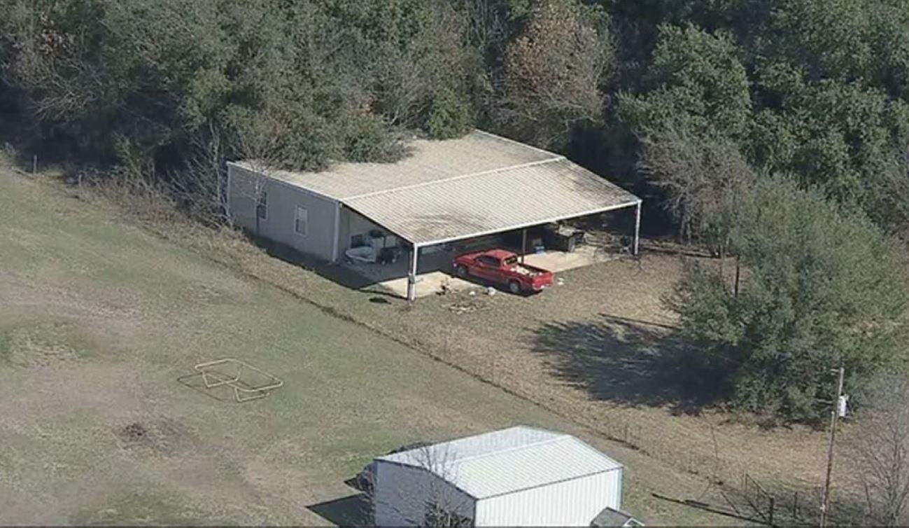 La casa rural donde estaban los niños se encuentra al norte de Texas (Foto: Twitter)