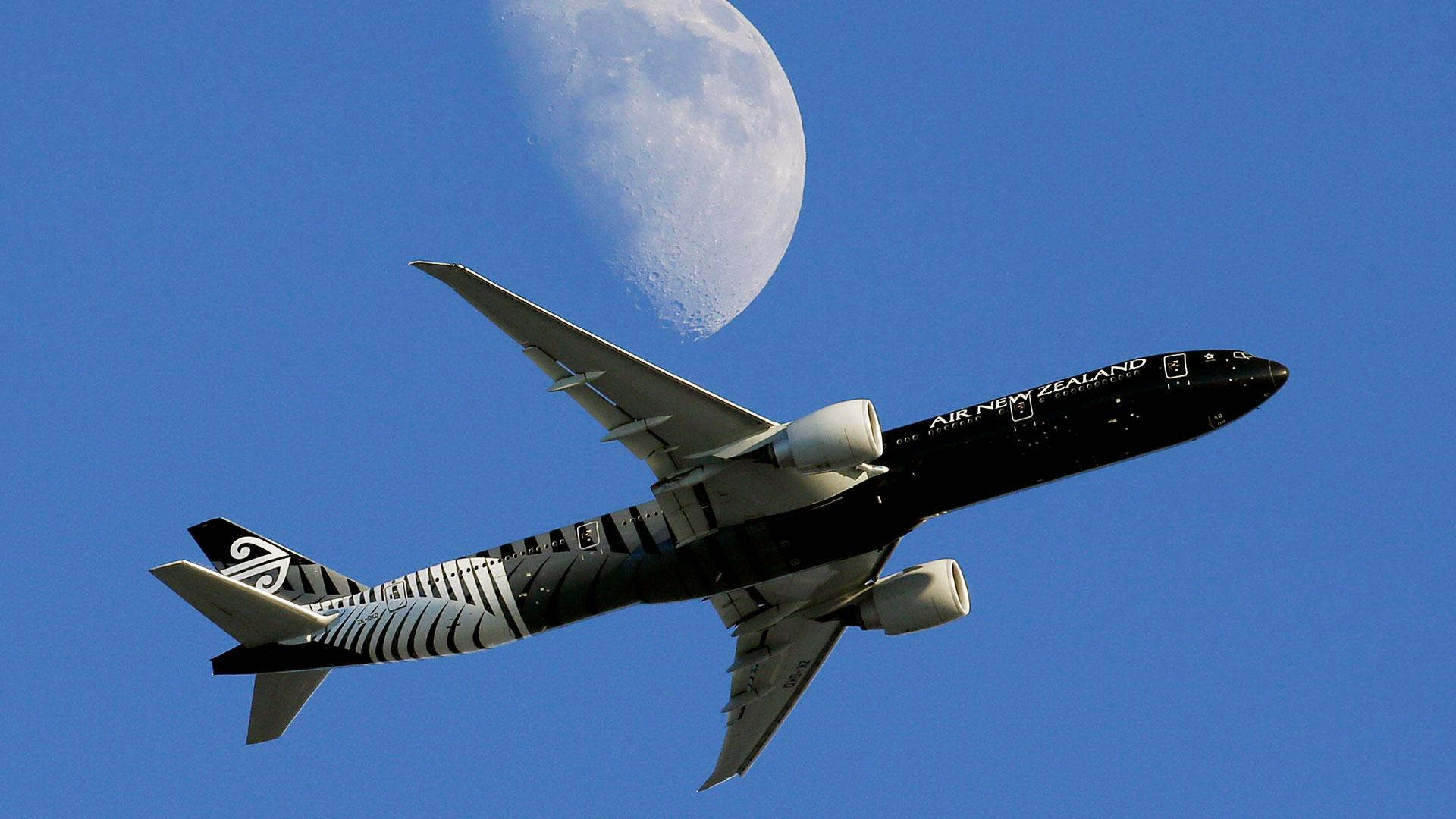 Un Boeing 787 de Air New Zealand como al que se le negó el permiso de aterrizaje en Shanghai (AP)