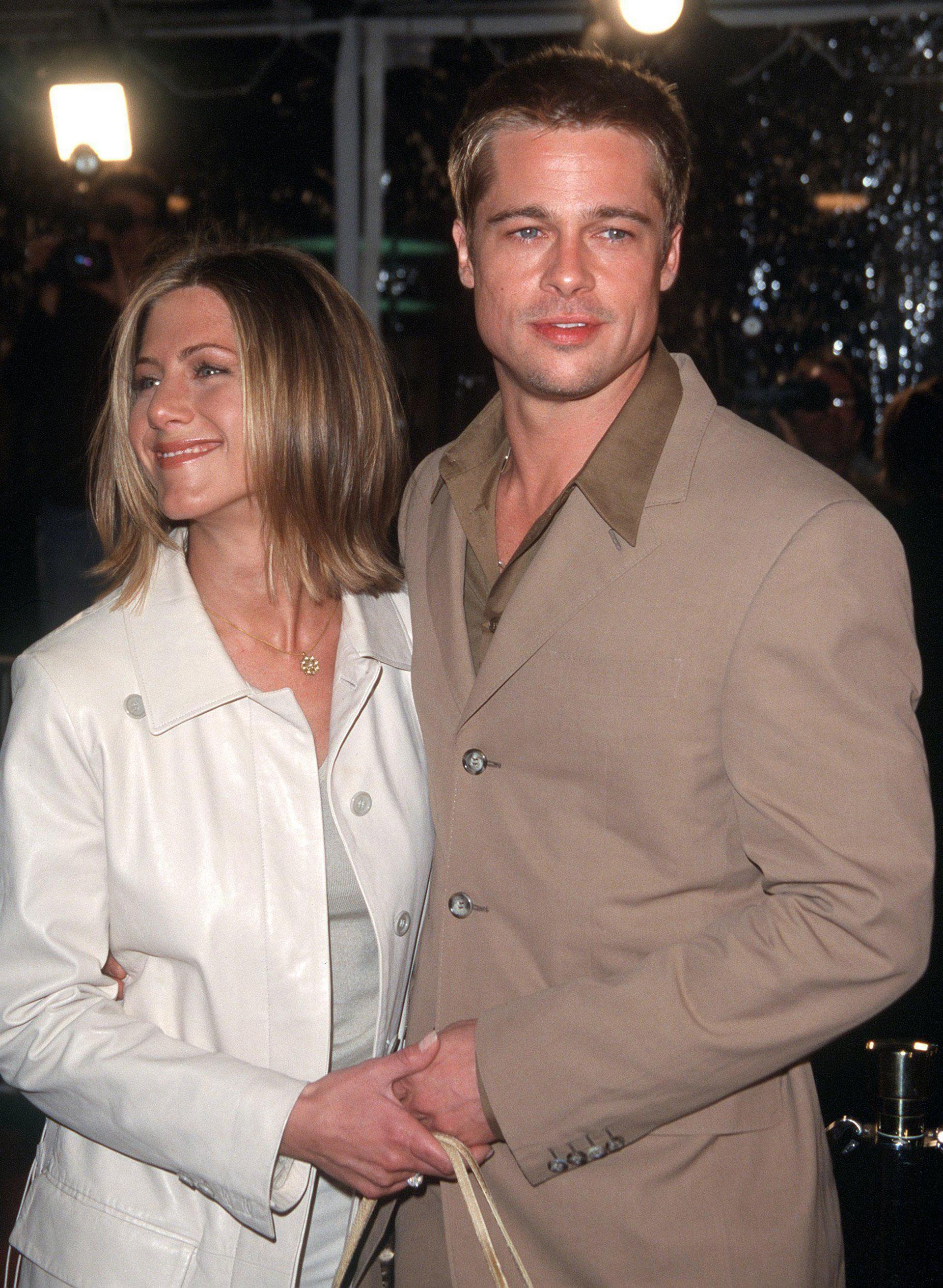 "Brad Pitt y Jennifer Aniston en la premiere de la película 'The Mexican"" en 2001"