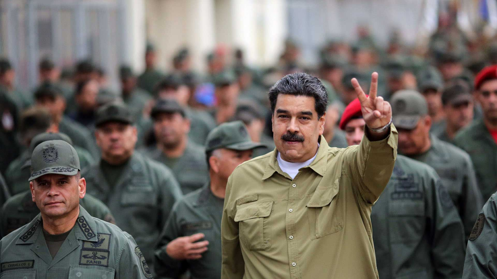 Nicolás Maduro, el heredero político de Hugo Chávez, en su hora más difícil. Foto: AFP.