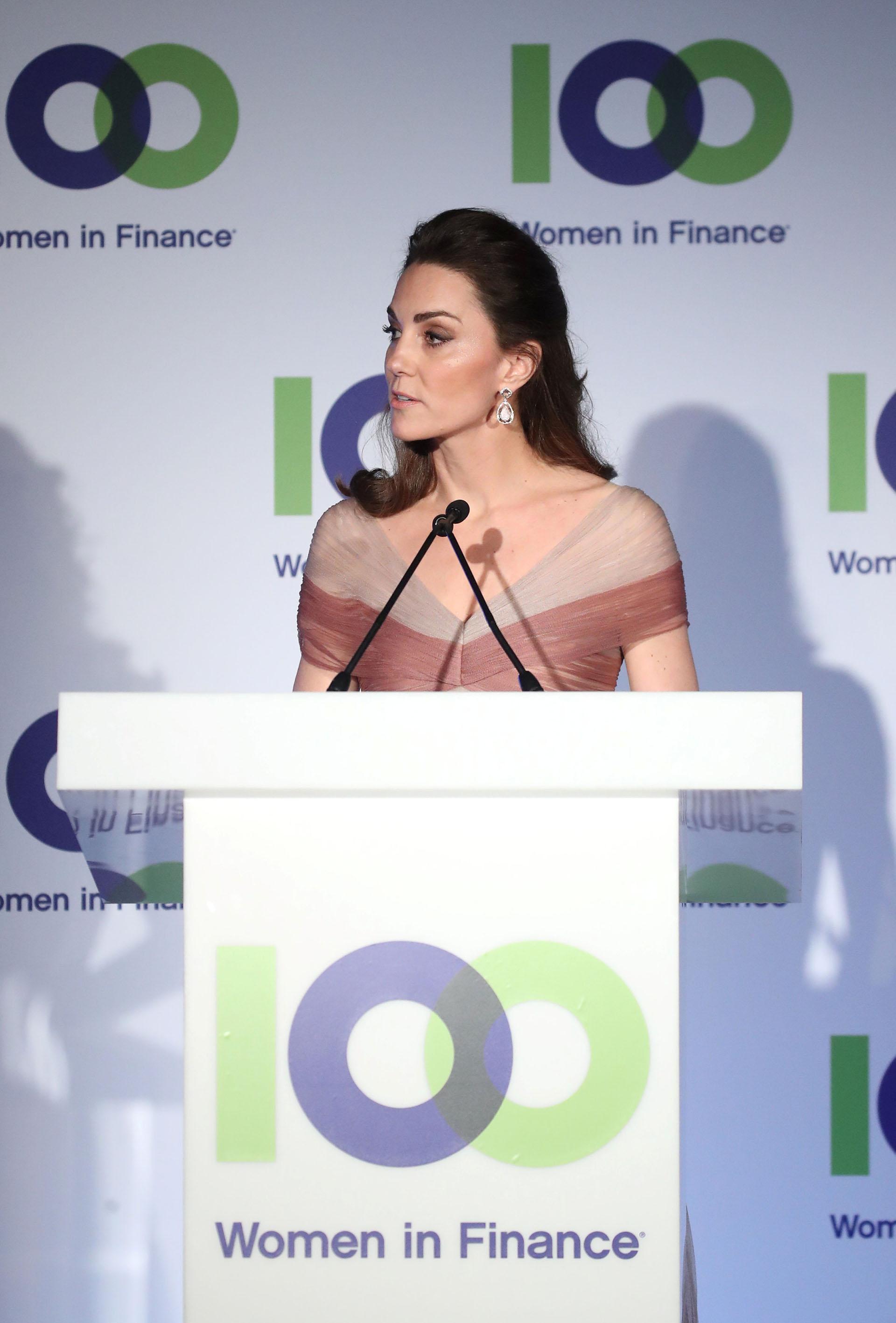 El discurso de la duquesa de Cambridge durante la gala