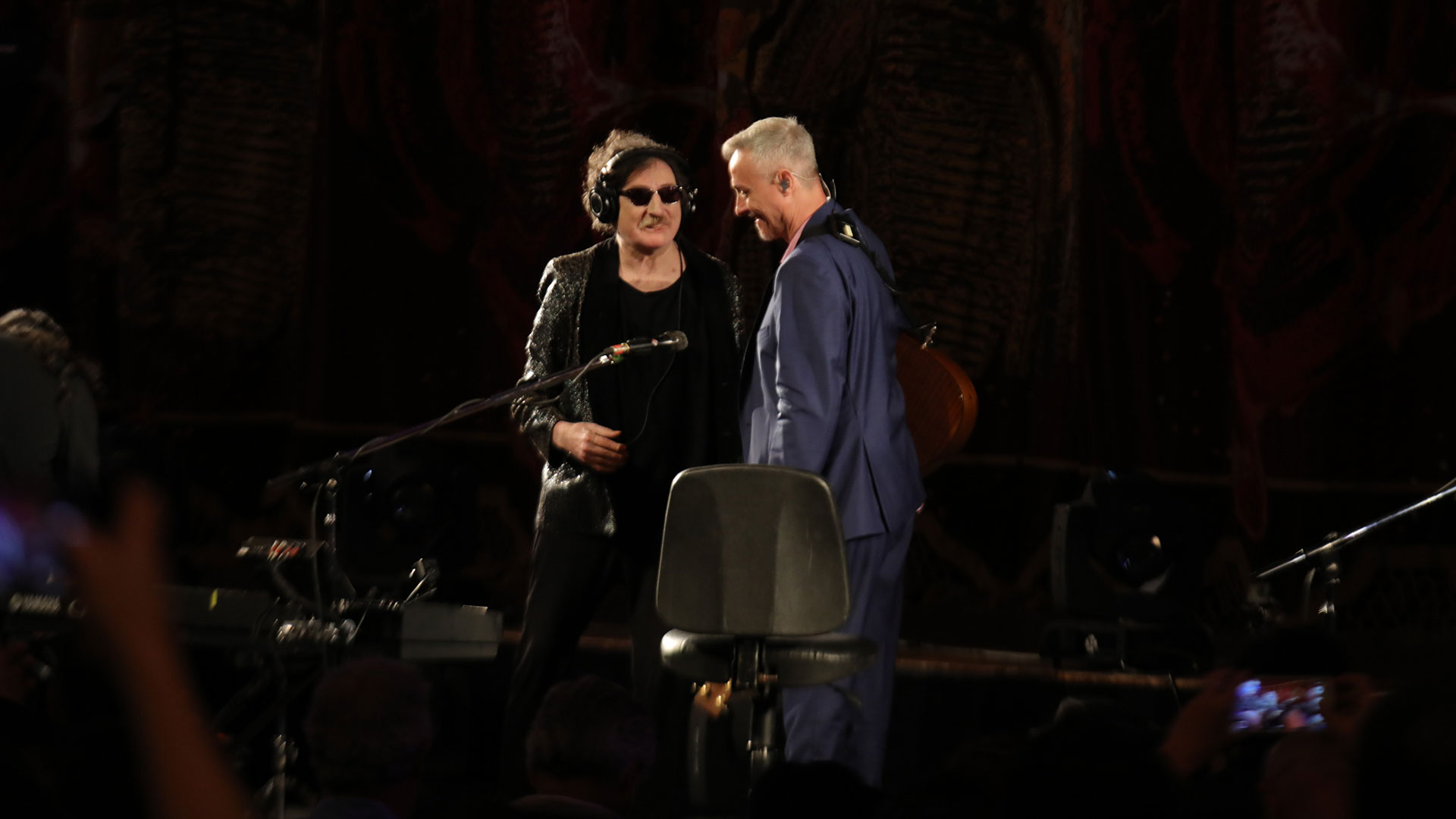Charly García junto a Pedro Aznar en el Teatro Colón