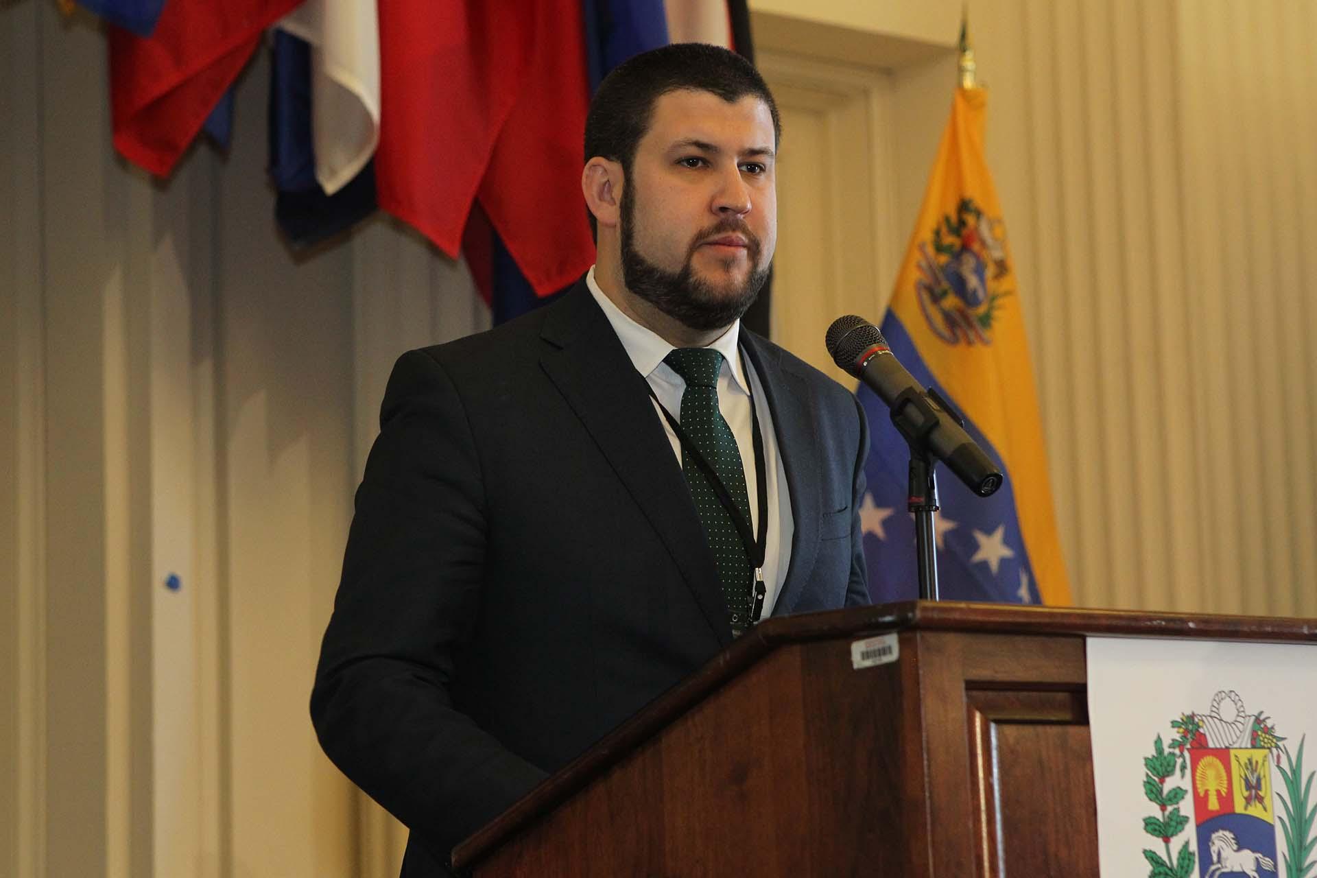 David Smolansky, coordinador del Grupo de Trabajo para los Migrantes y Refugiados de la OEA (Pedro Zavarce)