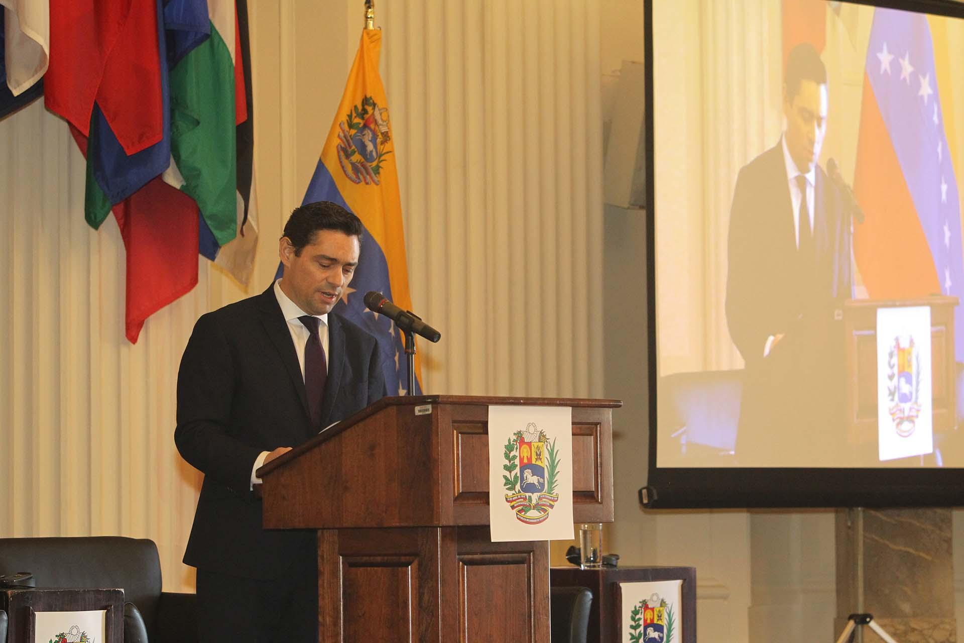 Carlos Vecchio, el representante ante EEUU del líder opositor Juan Guaidó(Pedro Zavarce)