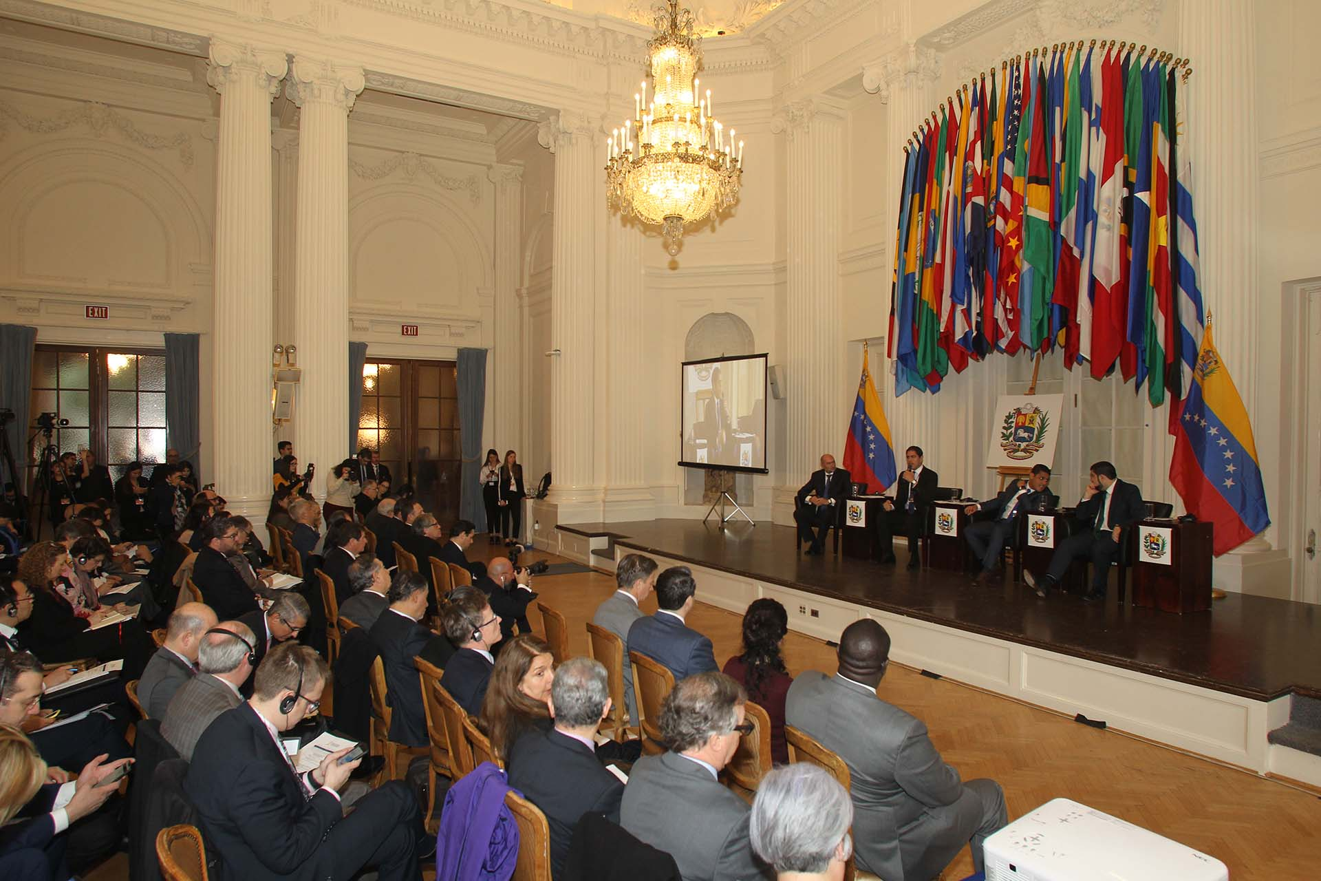 Unas 60 delegaciones participaron de la Conferencia Mundial sobre la crisis humanitaria en Venezuela (Pedro Zavarce)