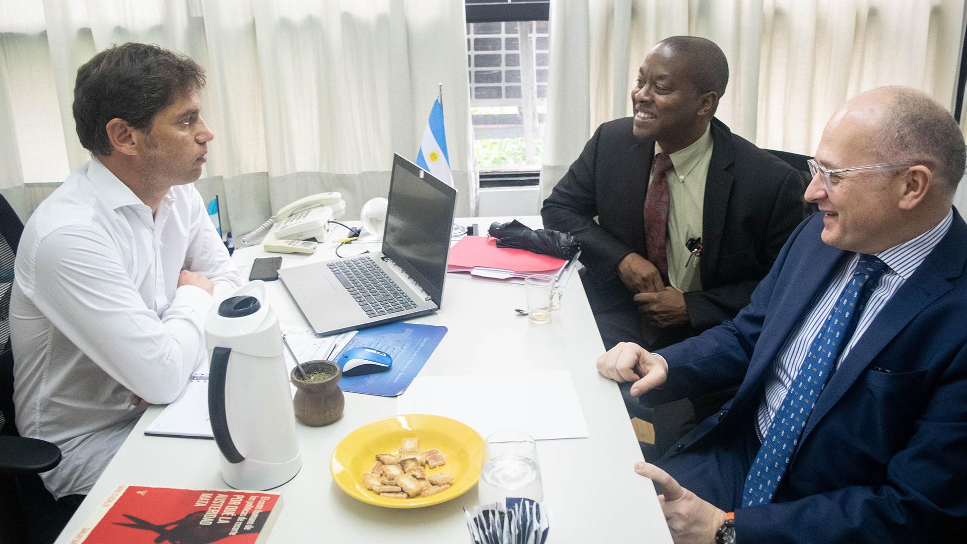 Los enviados del FMI y Kicillof, en la última visita del organismo