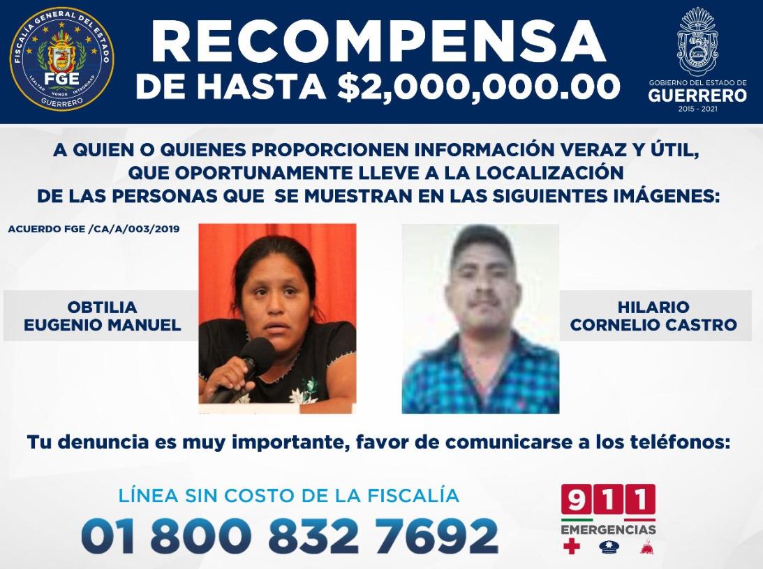 La ficha de búsqueda que lanzó la fiscalía del estado (Fiscalía de Guerrero)