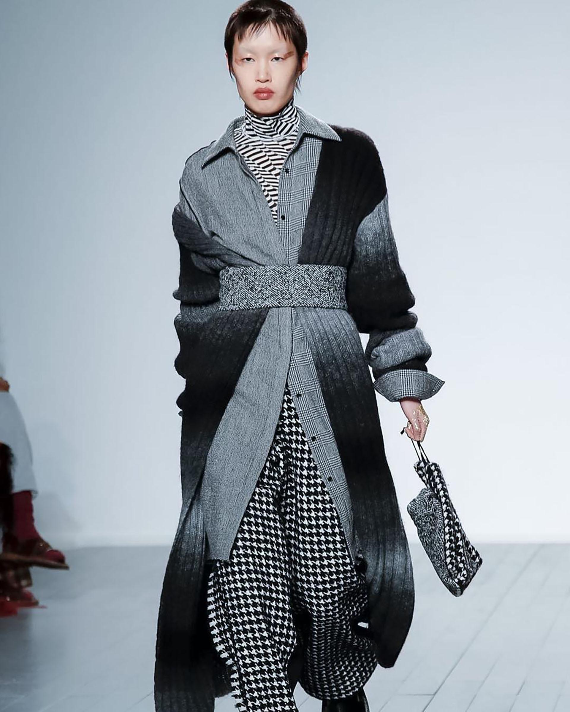 Chaquetas de gran tamaño, abrigos de lana y vestidos con manga de globo (Instagram: @nevsmodels)
