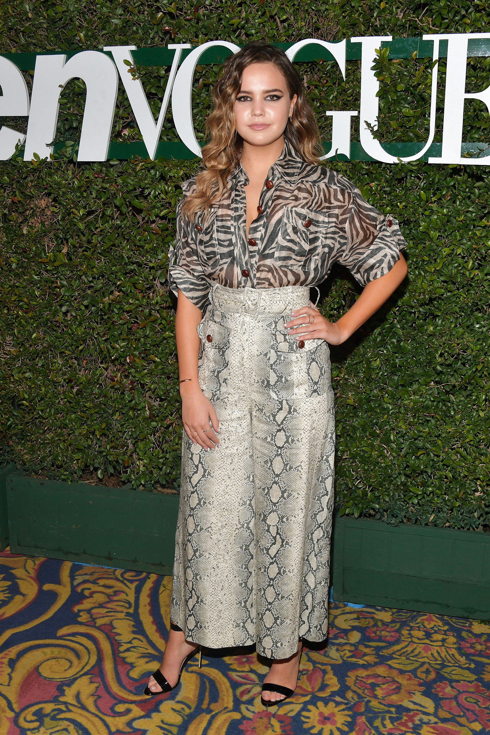 "Doble ""animal print"" para Bailee Madison"