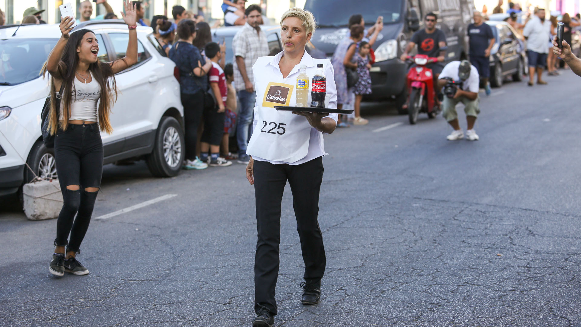 Una de las competidoras, que resultó ganadora, en plena acción