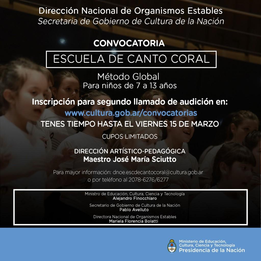 Escuela de Canto Coral 2 audicion Marzo