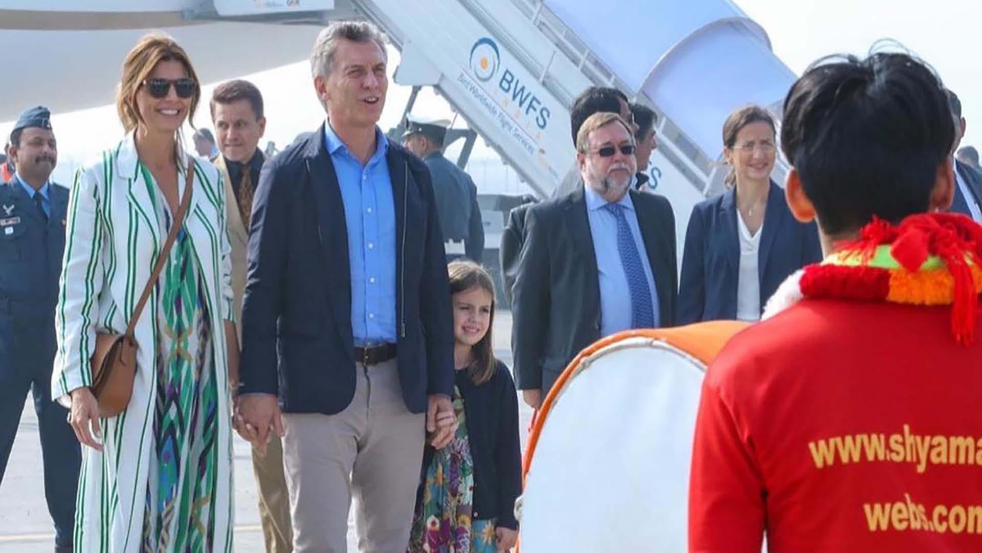 La primera dama arribó esta mañana a la India junto al Presidente y su hija Antonia (Télam)