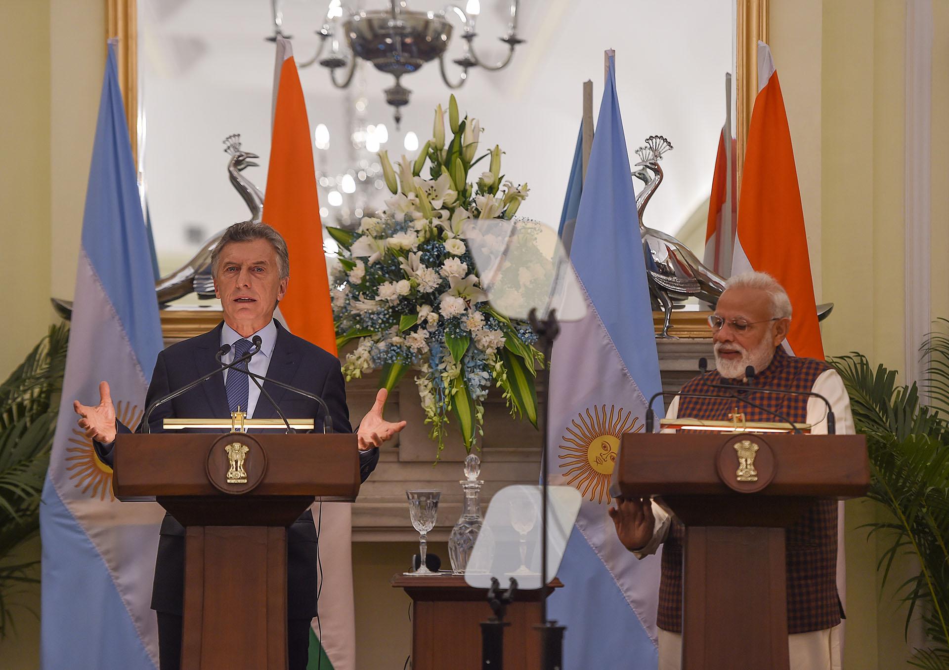 Macri y Modi respondieron preguntas de la prensa.