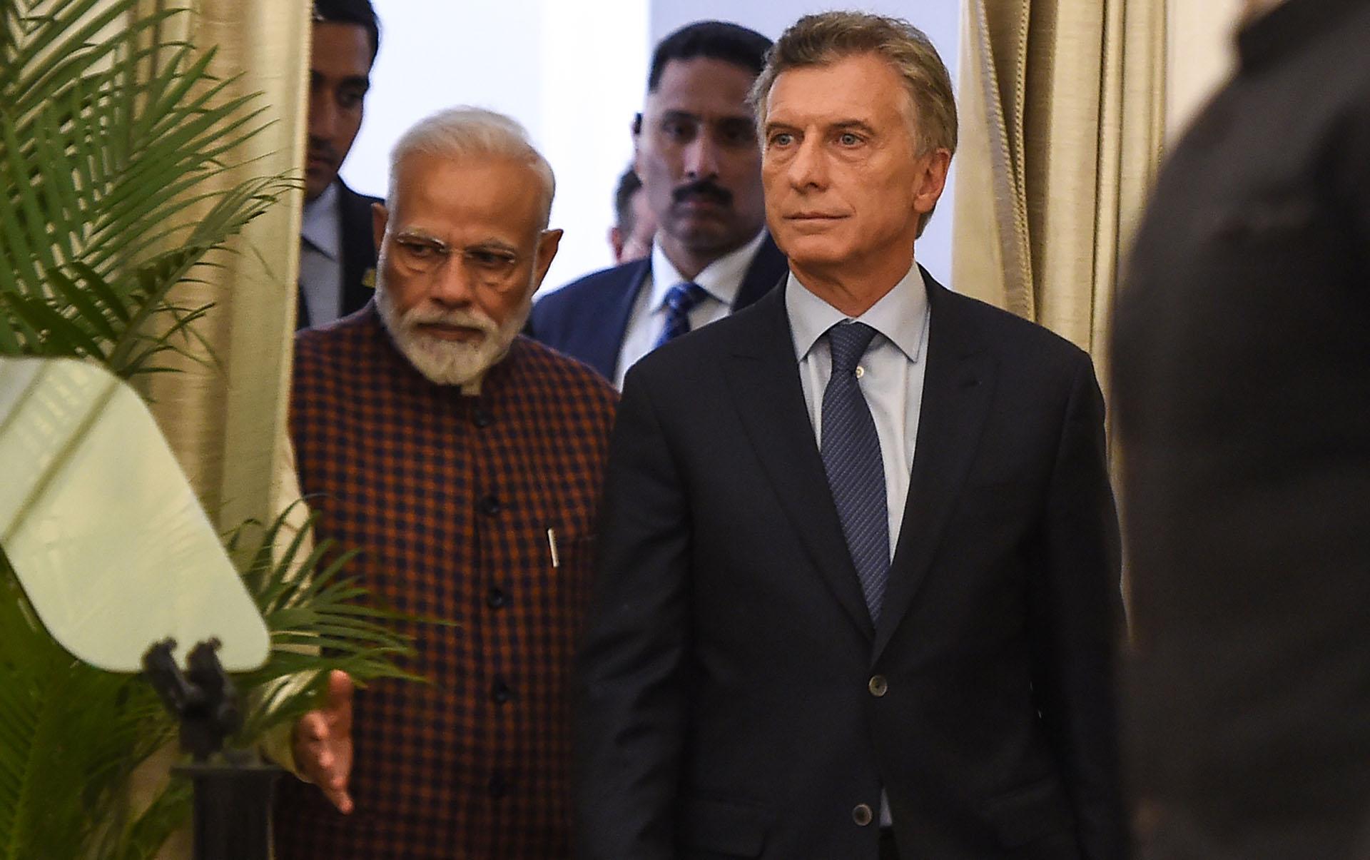 Macri junto al premier de India