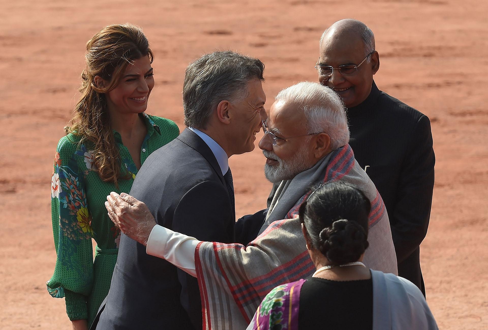 Macri y Awada saludan formalmente a las autoridades de India