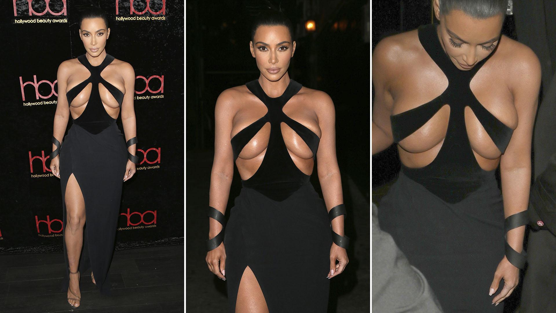 El look de Kim Kardashian (Grosby)