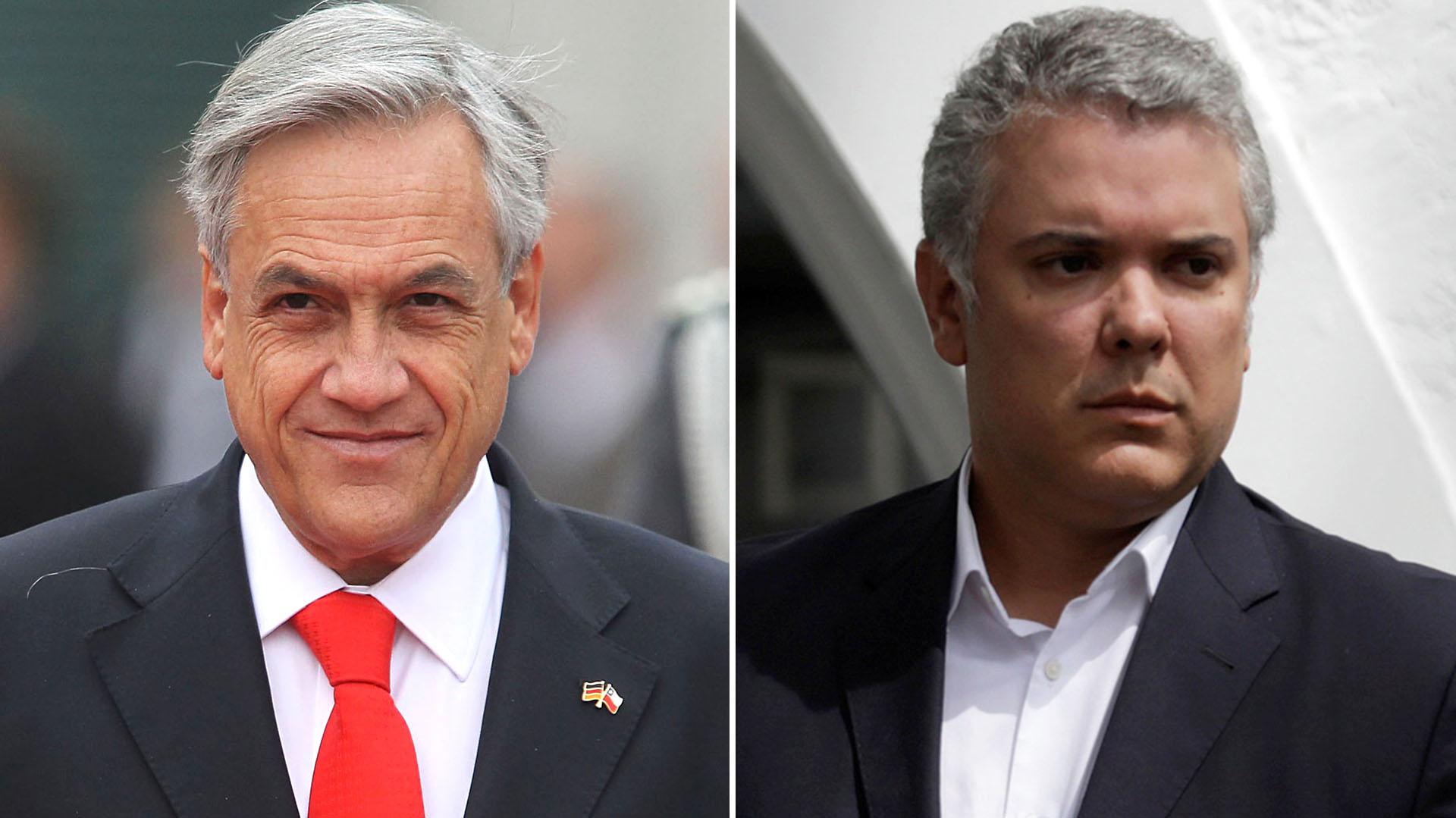 Sebastián Piñera e Iván Duque