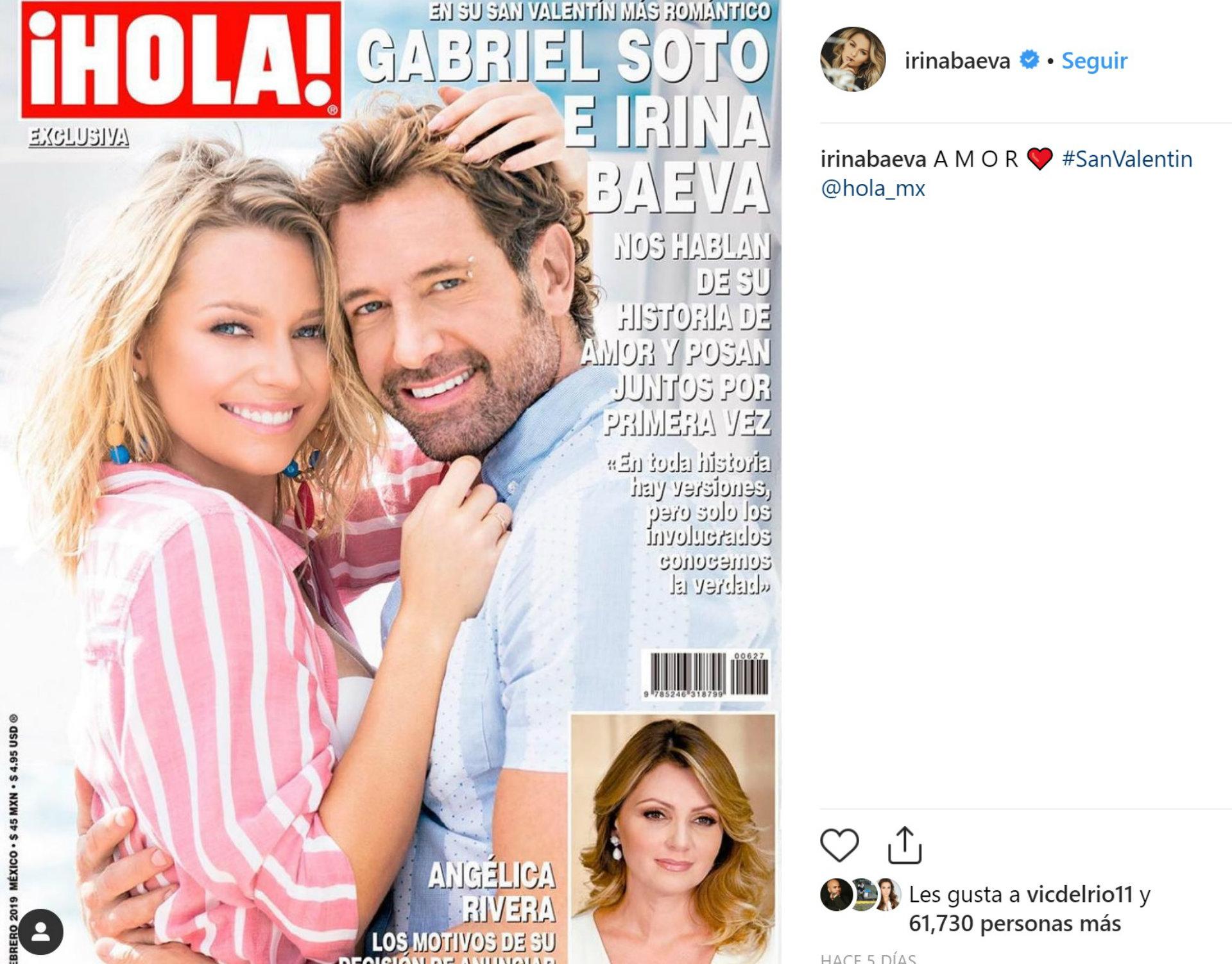 Así lucieron su amor Irina y Gabriel Soto