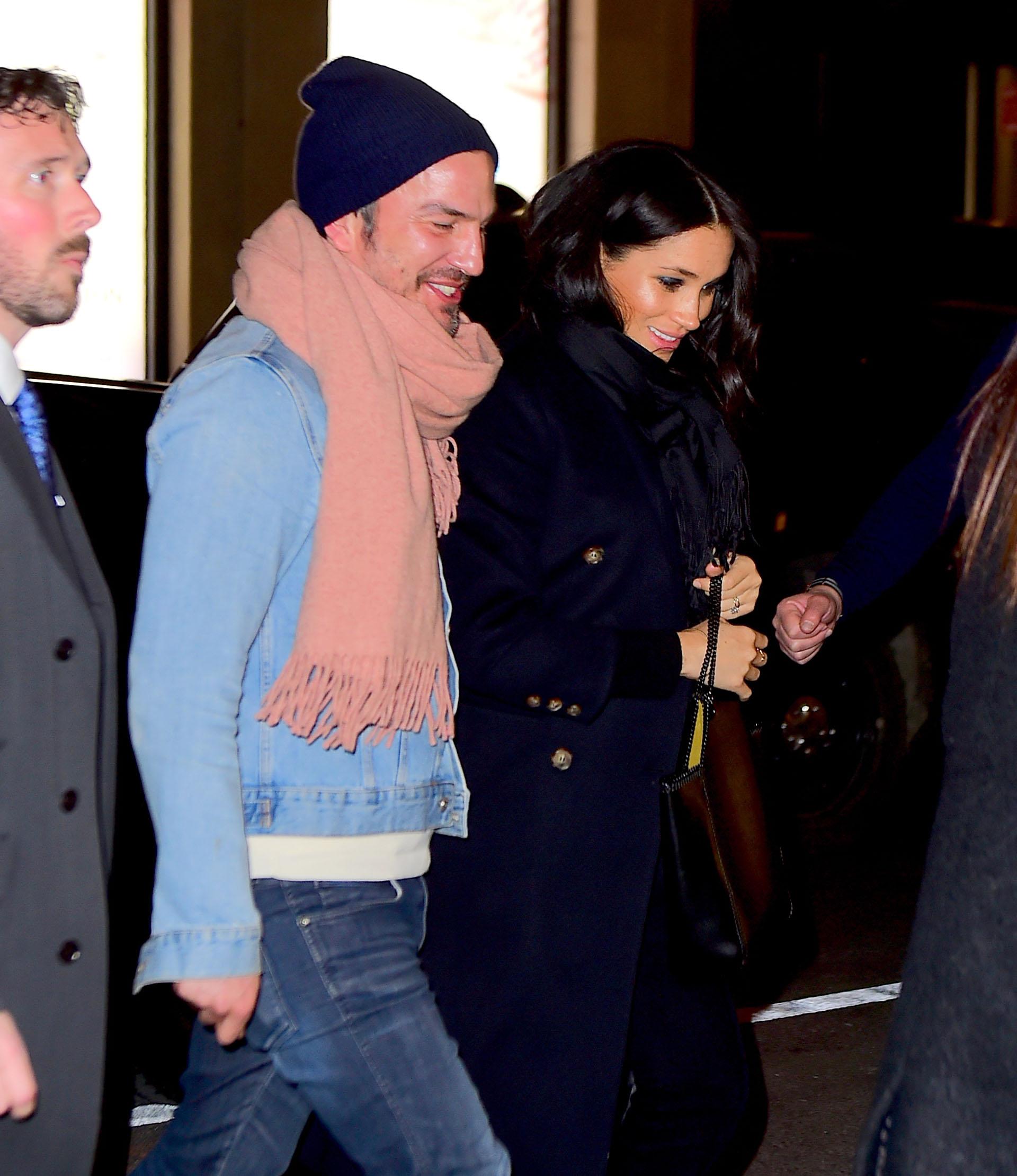 Meghan Markle llegó a la cena en el restaurante de The Polo Bar junto a Markus Anderson