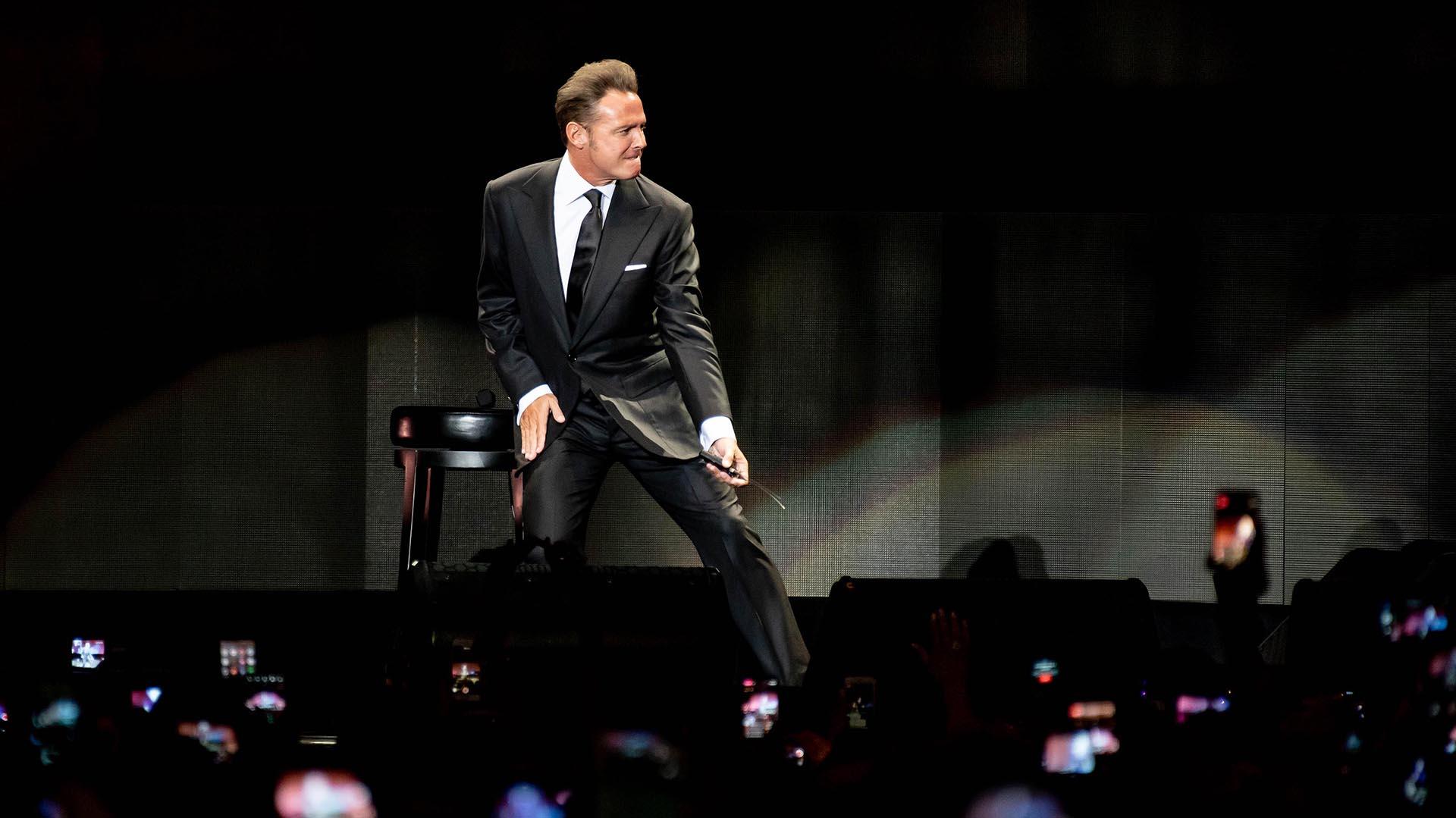 Luis Miguel en los escenario de Chile, días antes de arribar a la Argentina