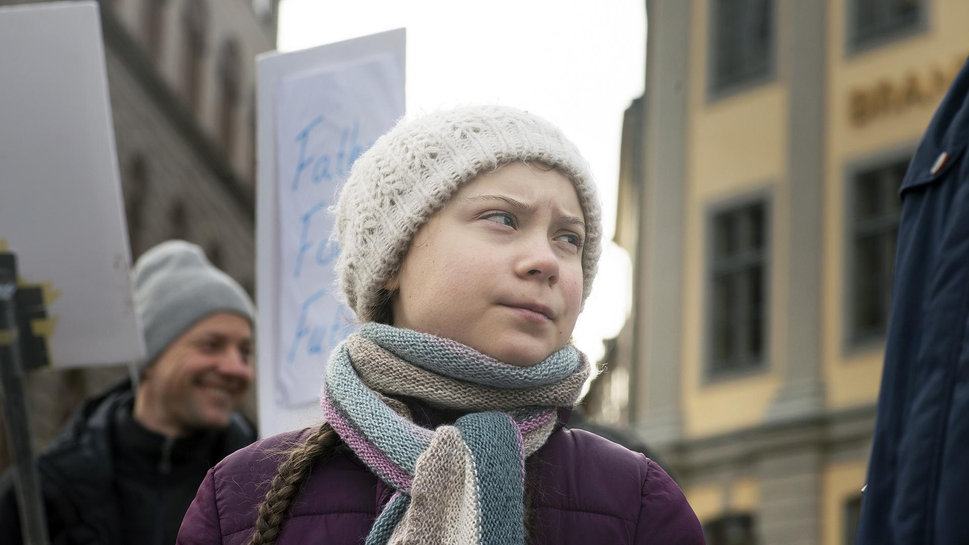 Greta Thunbergrealiza un acto de desobediencia civil. (Elisabeth Ubbe/The New York Times)