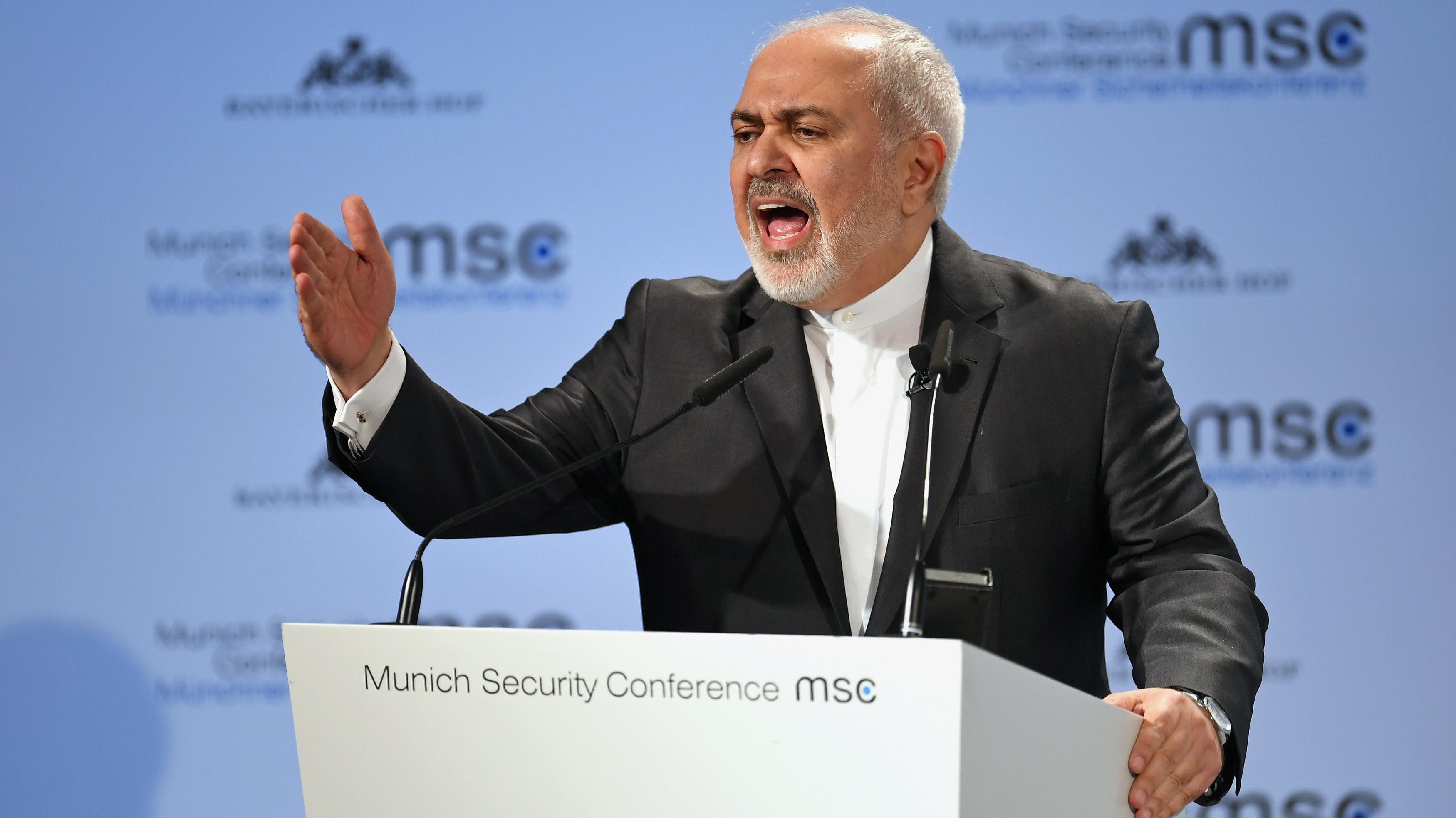 El canciller iraní Mohammad Javad Zarif