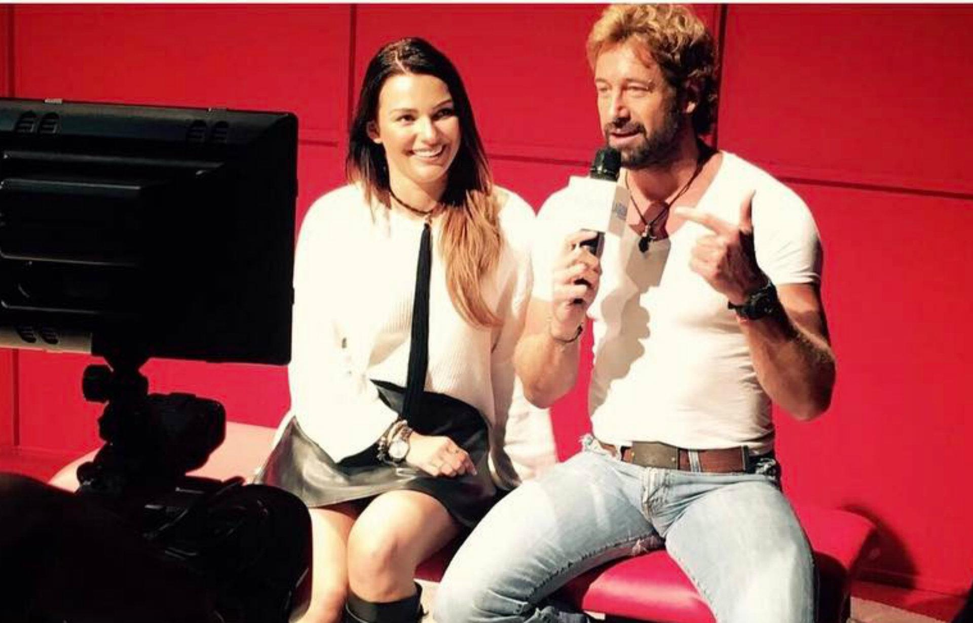 Imagen de mayo de 2017, cuando Irina y Soto protagonizaban una obra de teatro (Instagram)
