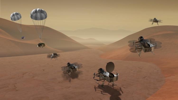Dragonfly podría ser una de las nuevas misiones a Titán de la NASA