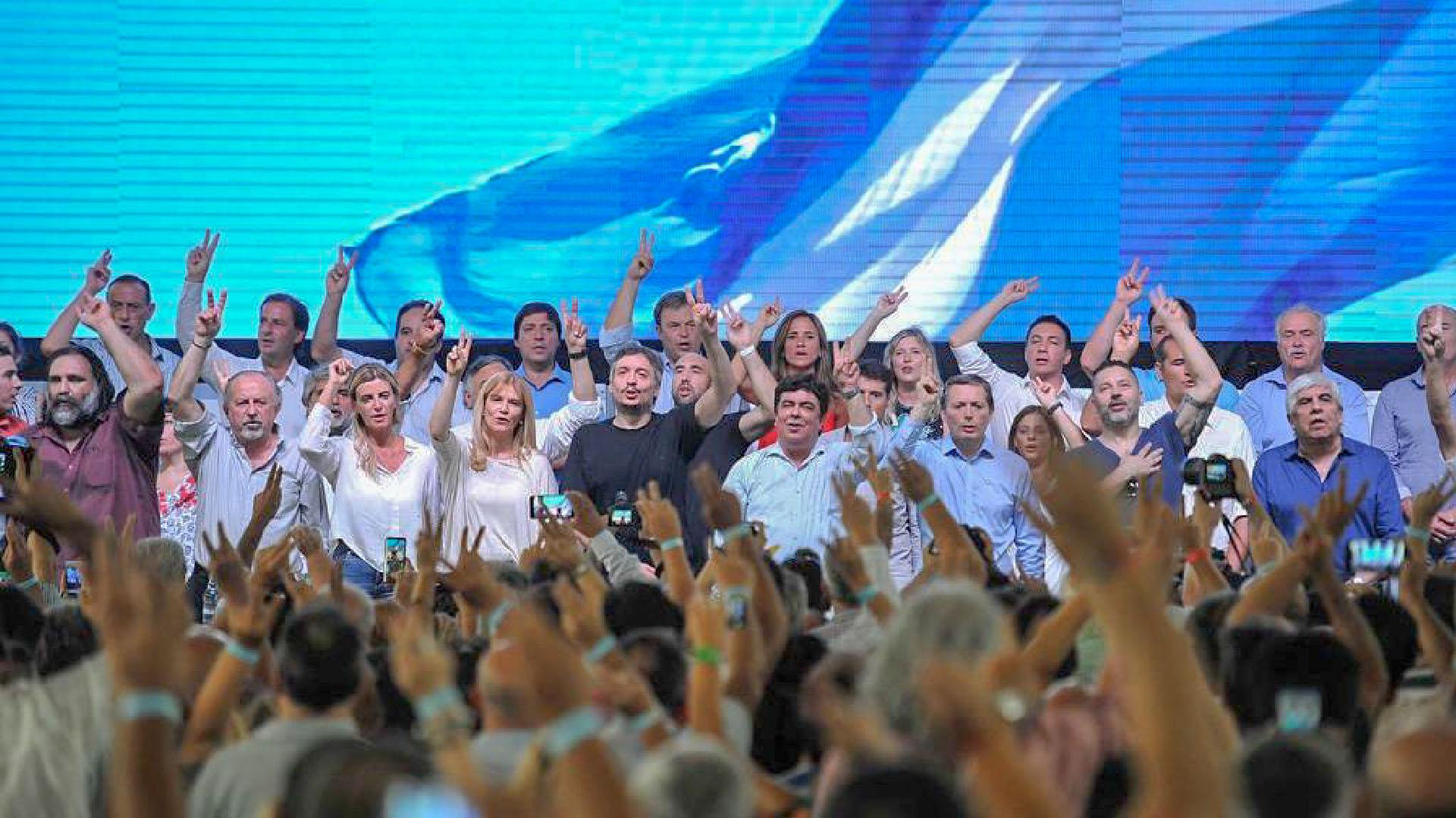 El Congreso del PJ tuvo lugar en el Polideportivo Alberto Balestrini en La Matanza (Nicolás Aboaf)
