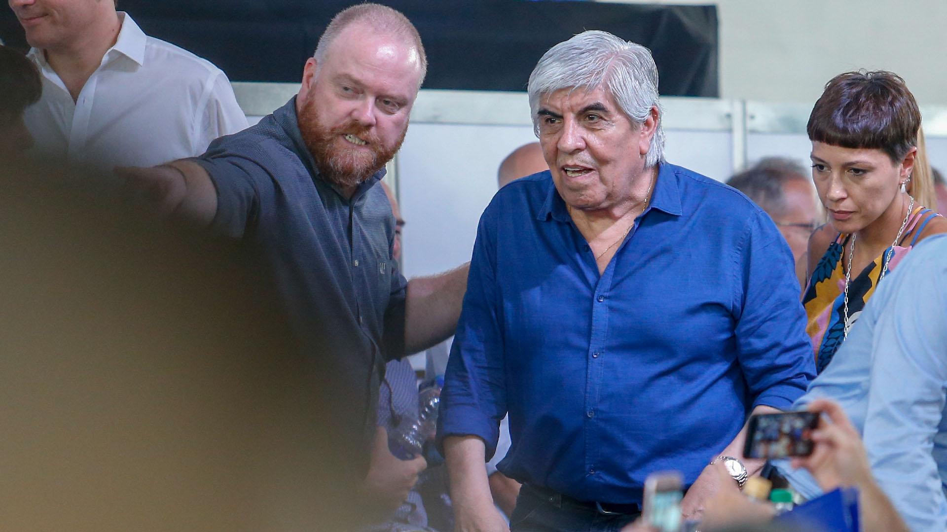 El líder del sindicato de Camioneros Hugo Moyano