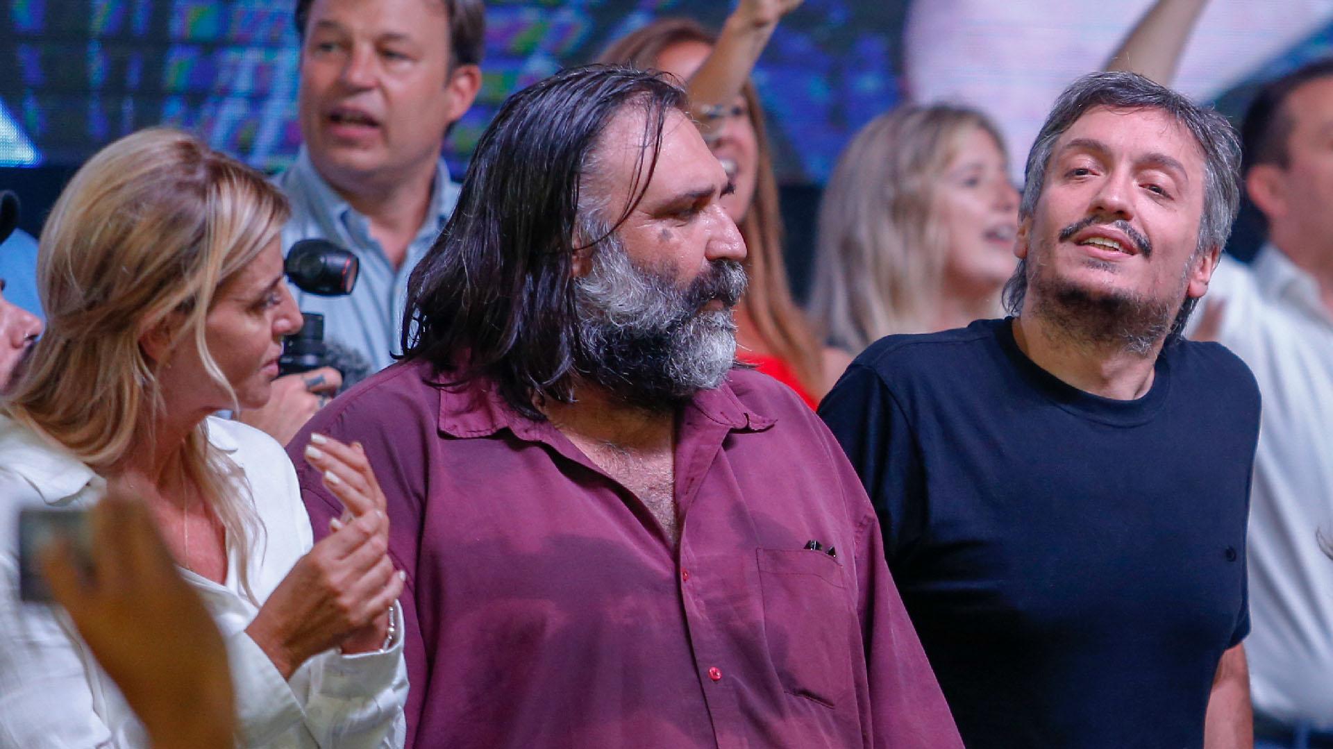 El Secretario General de Suteba, Alberto Baradel junto a Máximo Kirchner