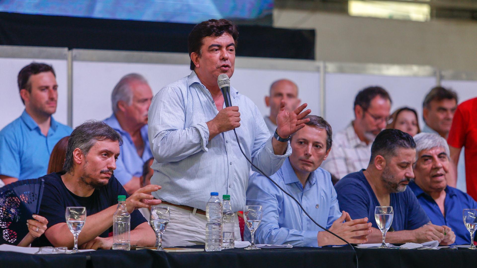 El presidente del Congreso del PJ, Fernando Espinoza