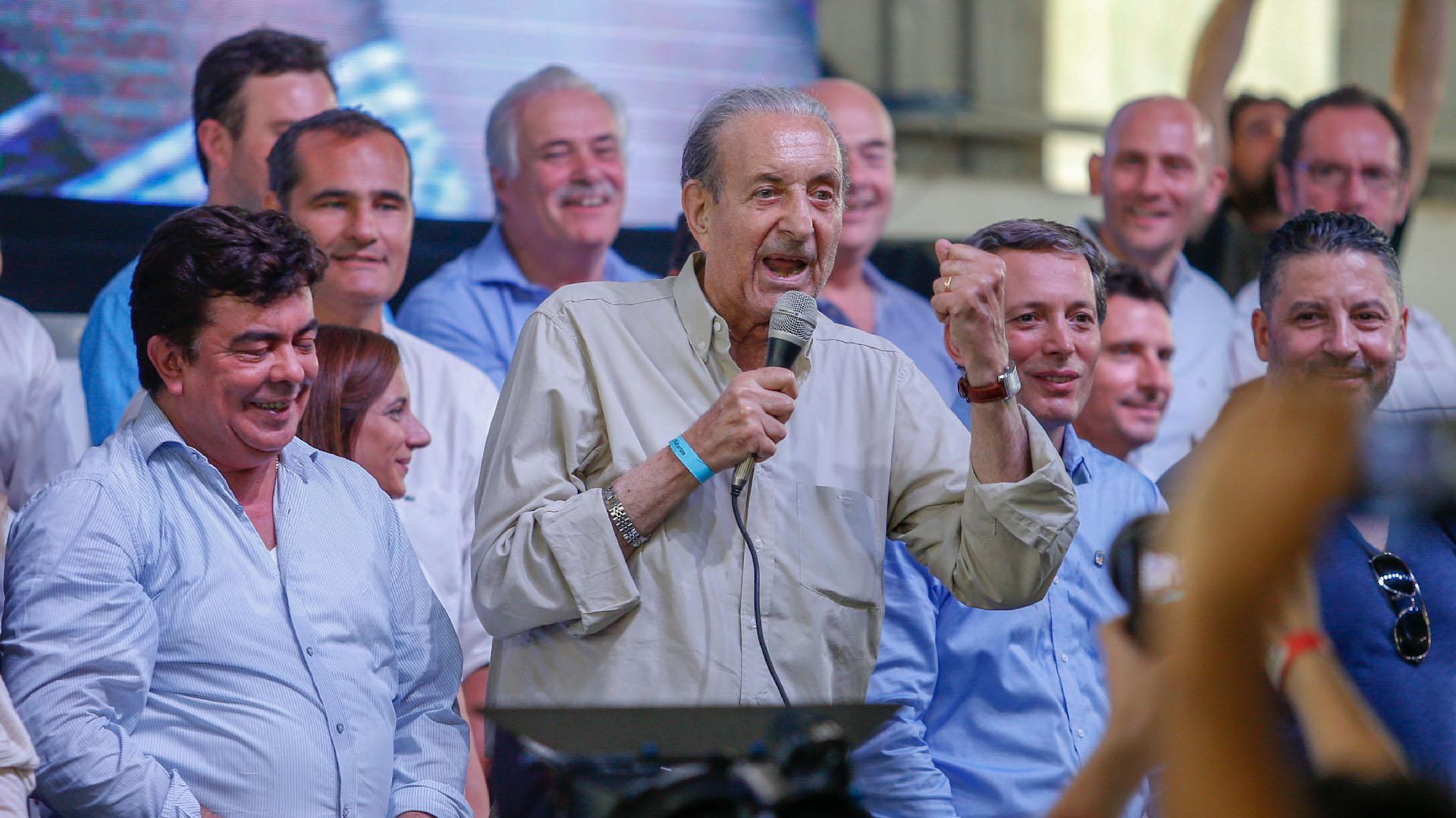 El histórico dirigente peronista Lorenzo Pepe