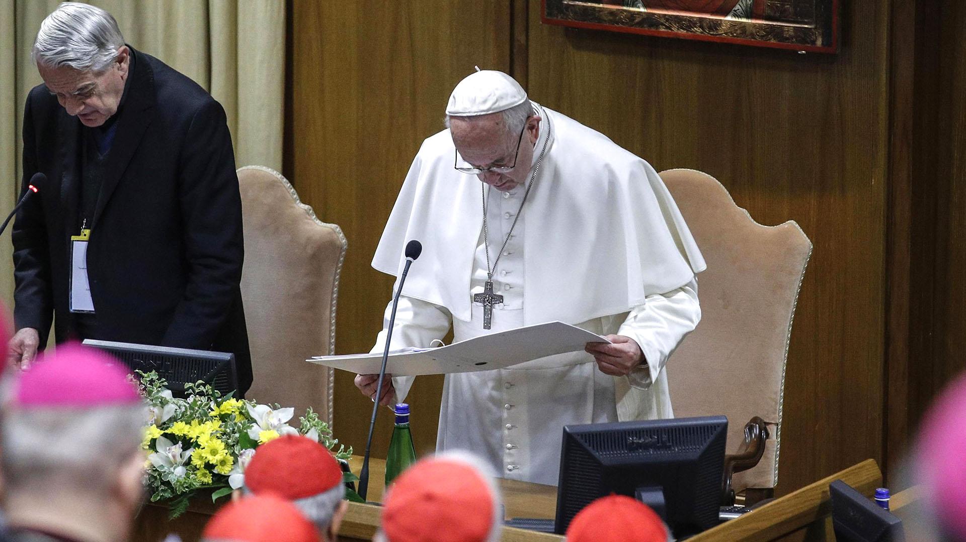 El papa Francisco es el principal impulsor de la cumbre(Photo by GIUSEPPE LAMI / POOL / AFP)