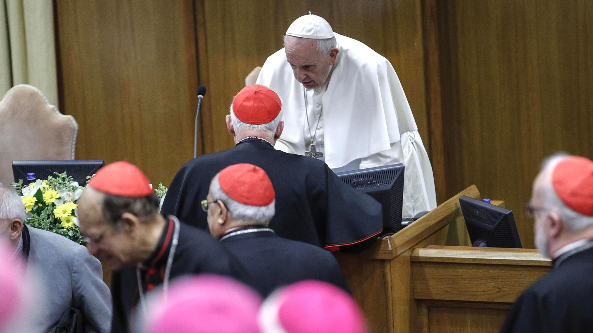 El papa Francisco lideró las reuniones(GIUSEPPE LAMI / POOL / AFP)